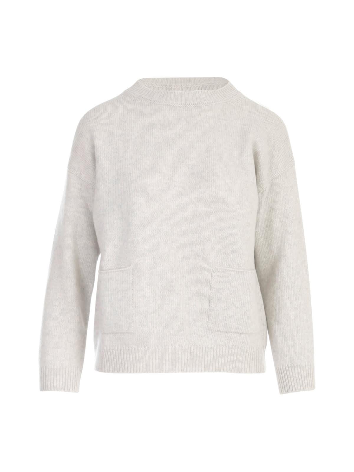 Oversized Crew Neck Sweater W/pockets