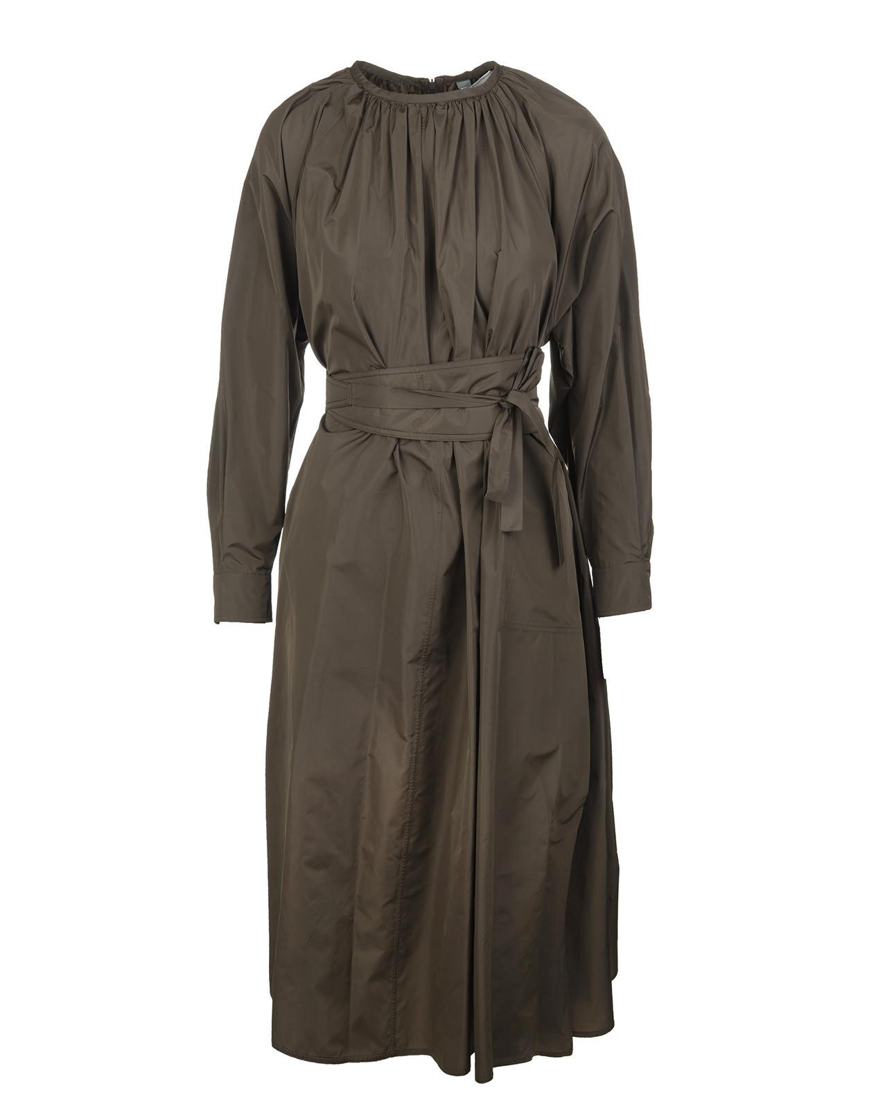 Buy Max Mara Khaki Green Caio Long Dress online, shop Max Mara with free shipping