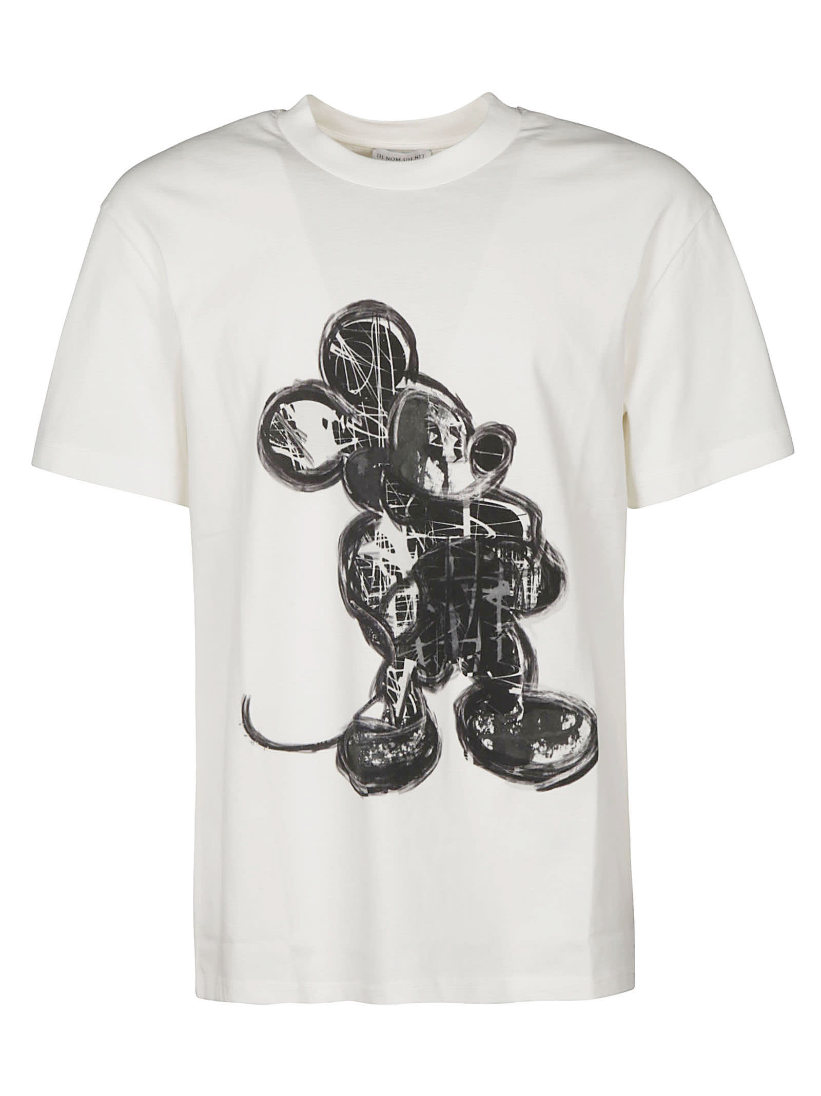 Ih Nom Uh Nit Cottons MOUSE PAINT WITH LOGO T-SHIRT