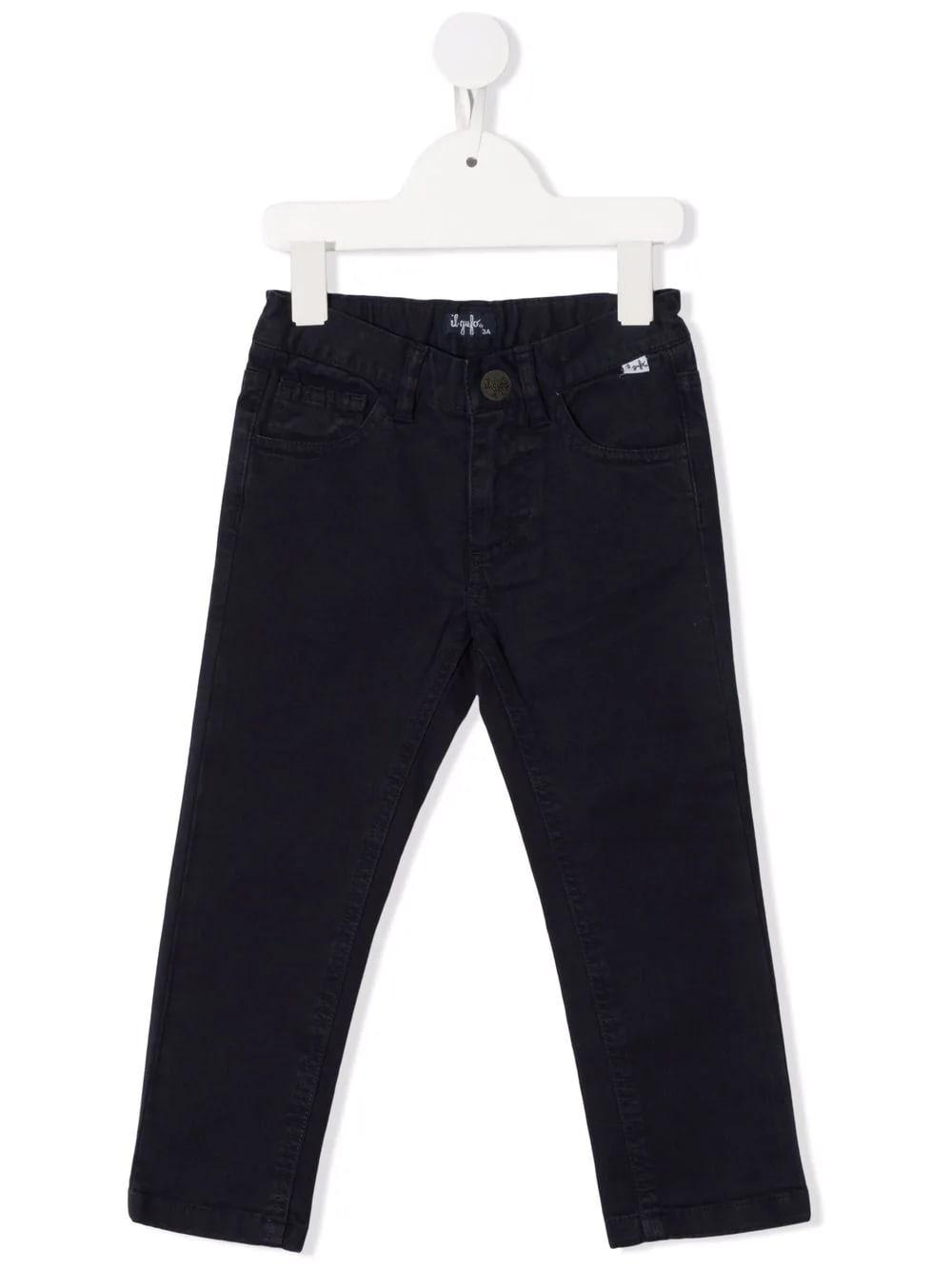 Kids Blue Gabardine Trousers