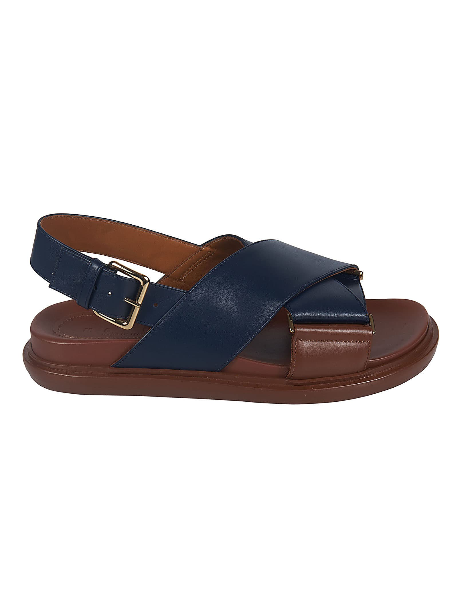 Buy Marni Cross-strap Side Buckled Flat Sandals online, shop Marni shoes with free shipping