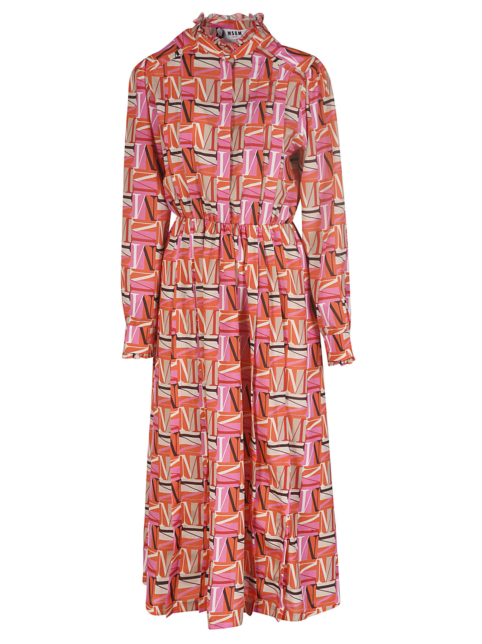 Buy MSGM All-over Logo Printed Dress online, shop MSGM with free shipping