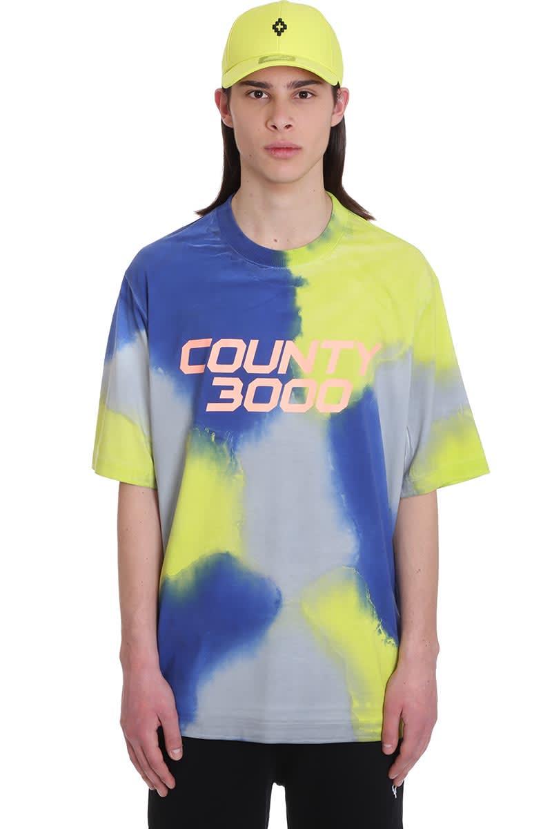 Marcelo Burlon Conty 300 Tie & d T-shirt In Multicolor Cotton