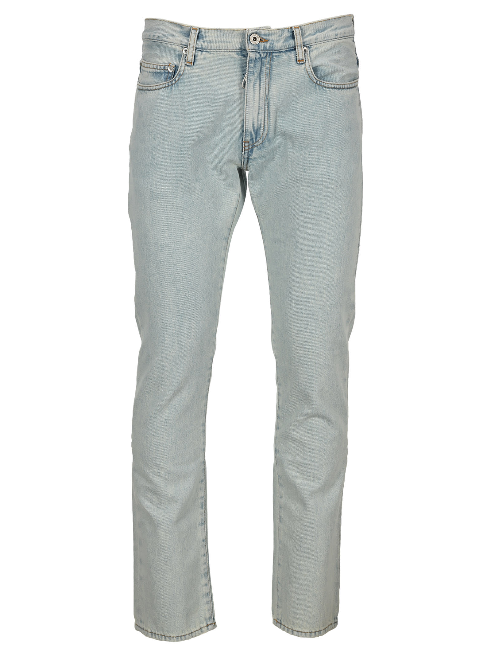 Off-White Cottons OFF WHITE SLIM FIT JEANS