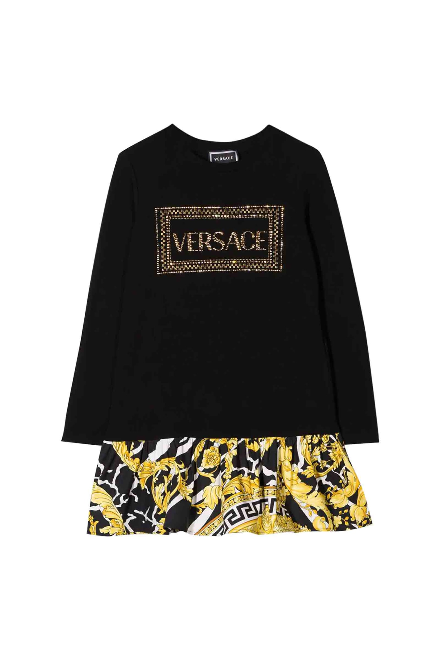 Young Versace Logo Dress