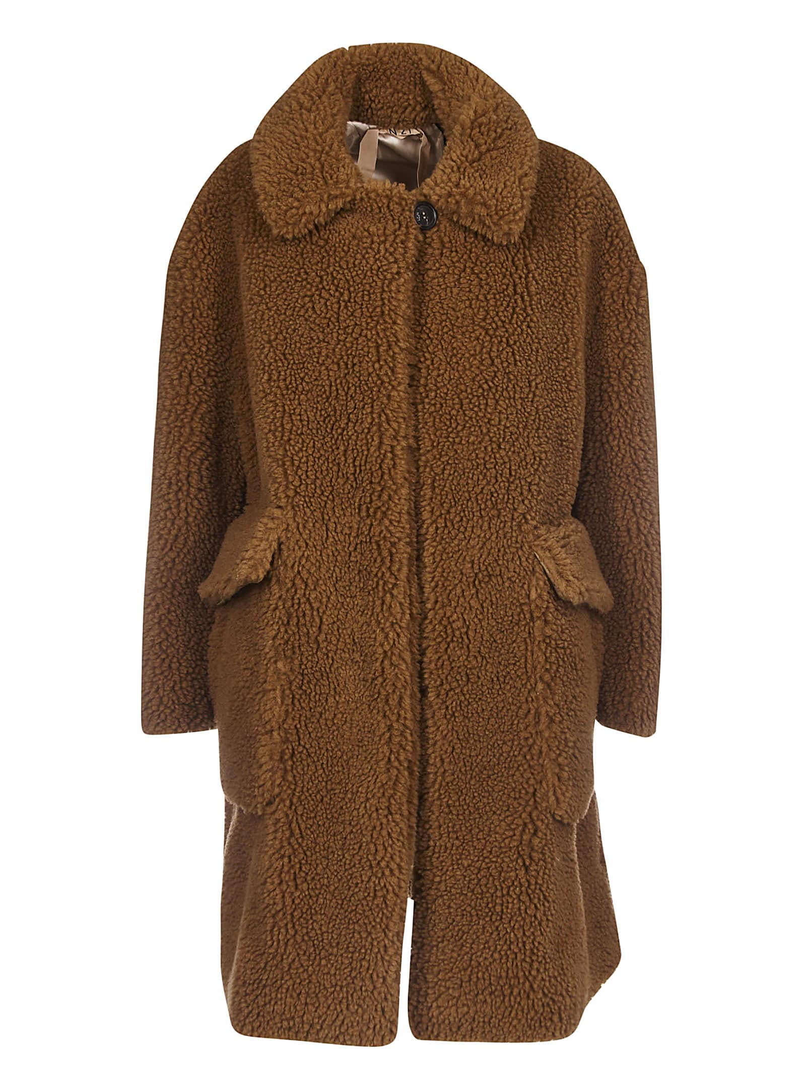 N.21 Fur Applique Coat