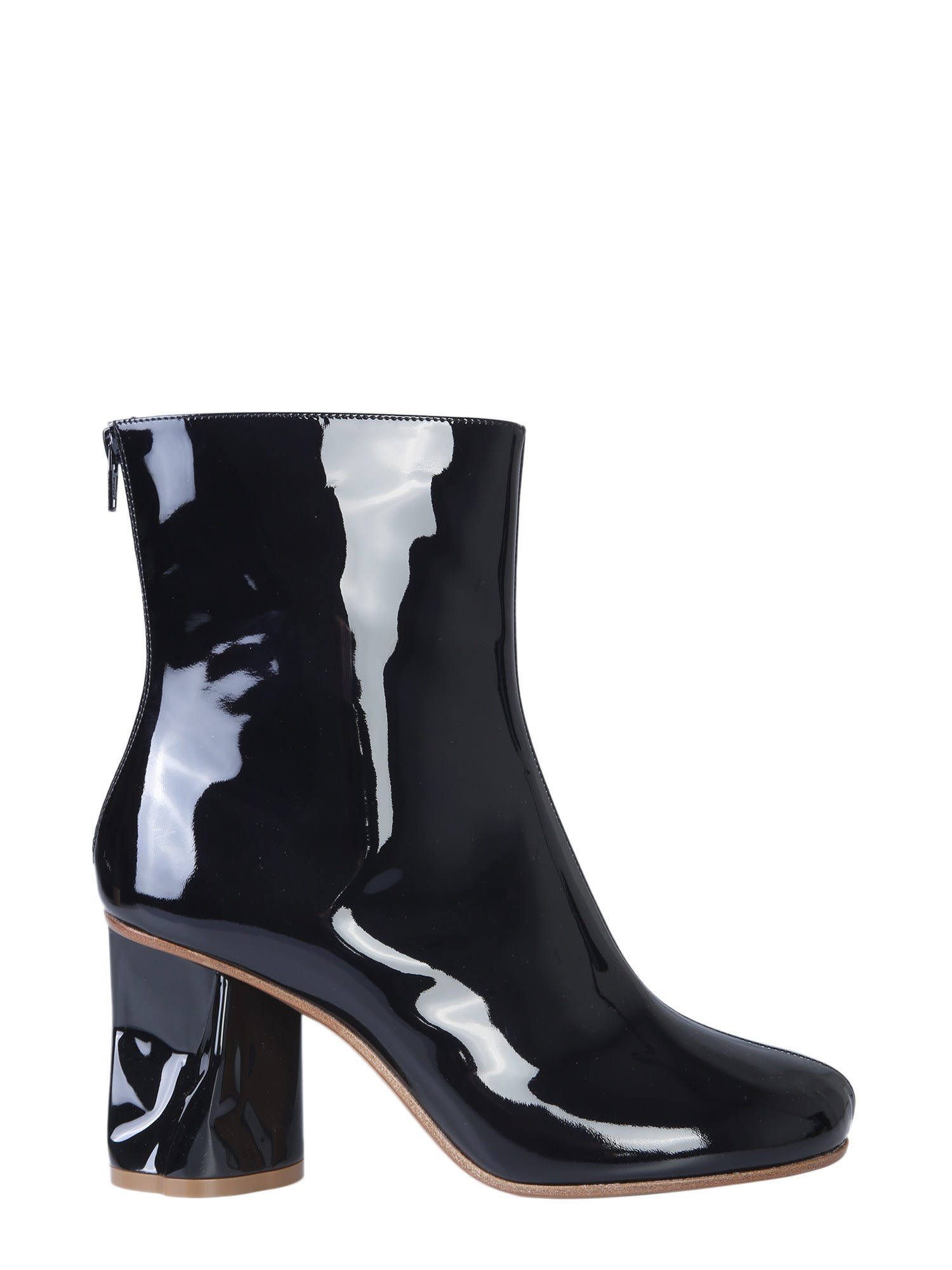 Buy Maison Margiela Ankle Boots With Crushed Heel online, shop Maison Margiela shoes with free shipping