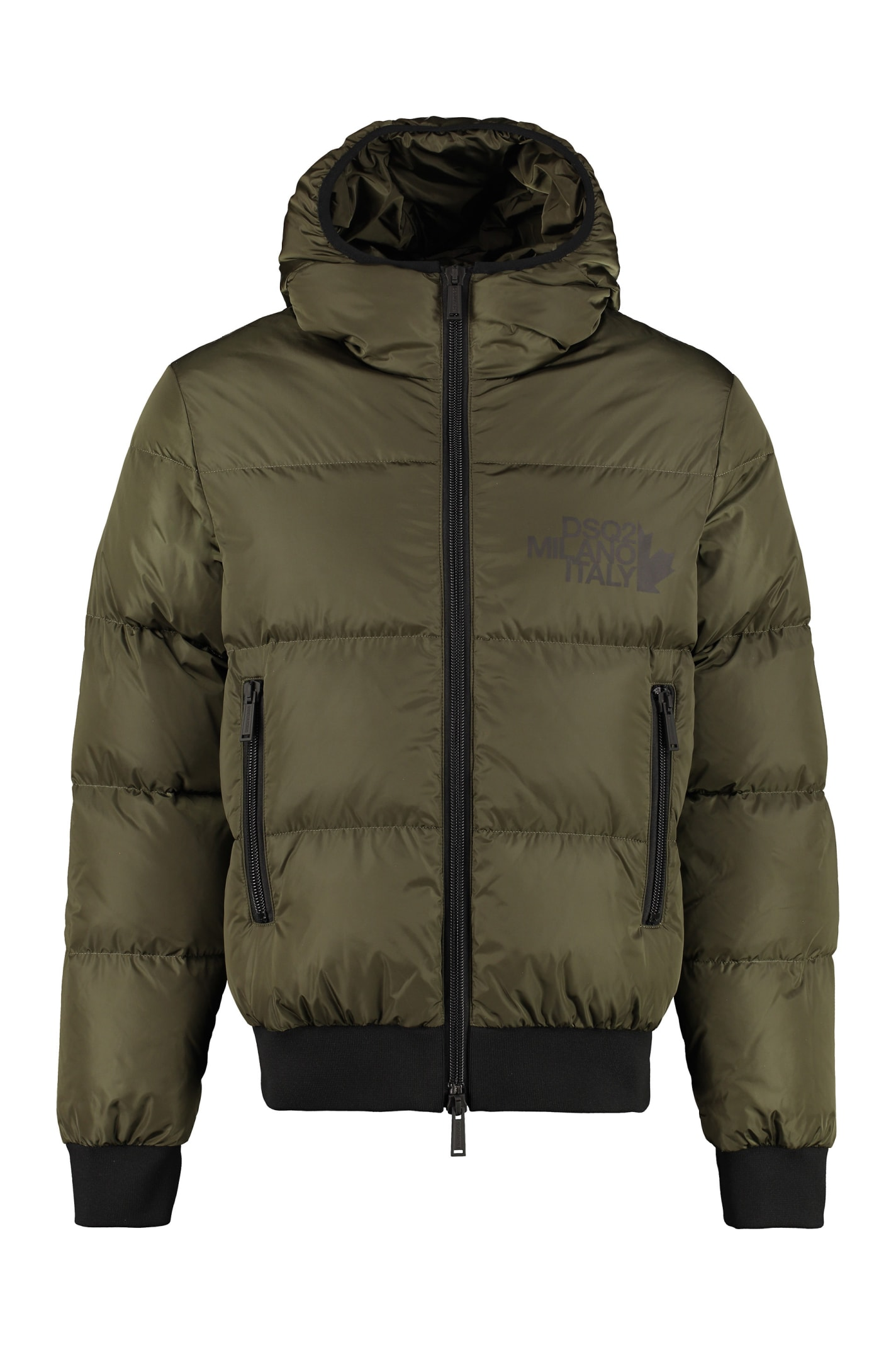 Dsquared2 Hooded Short Down Jacket