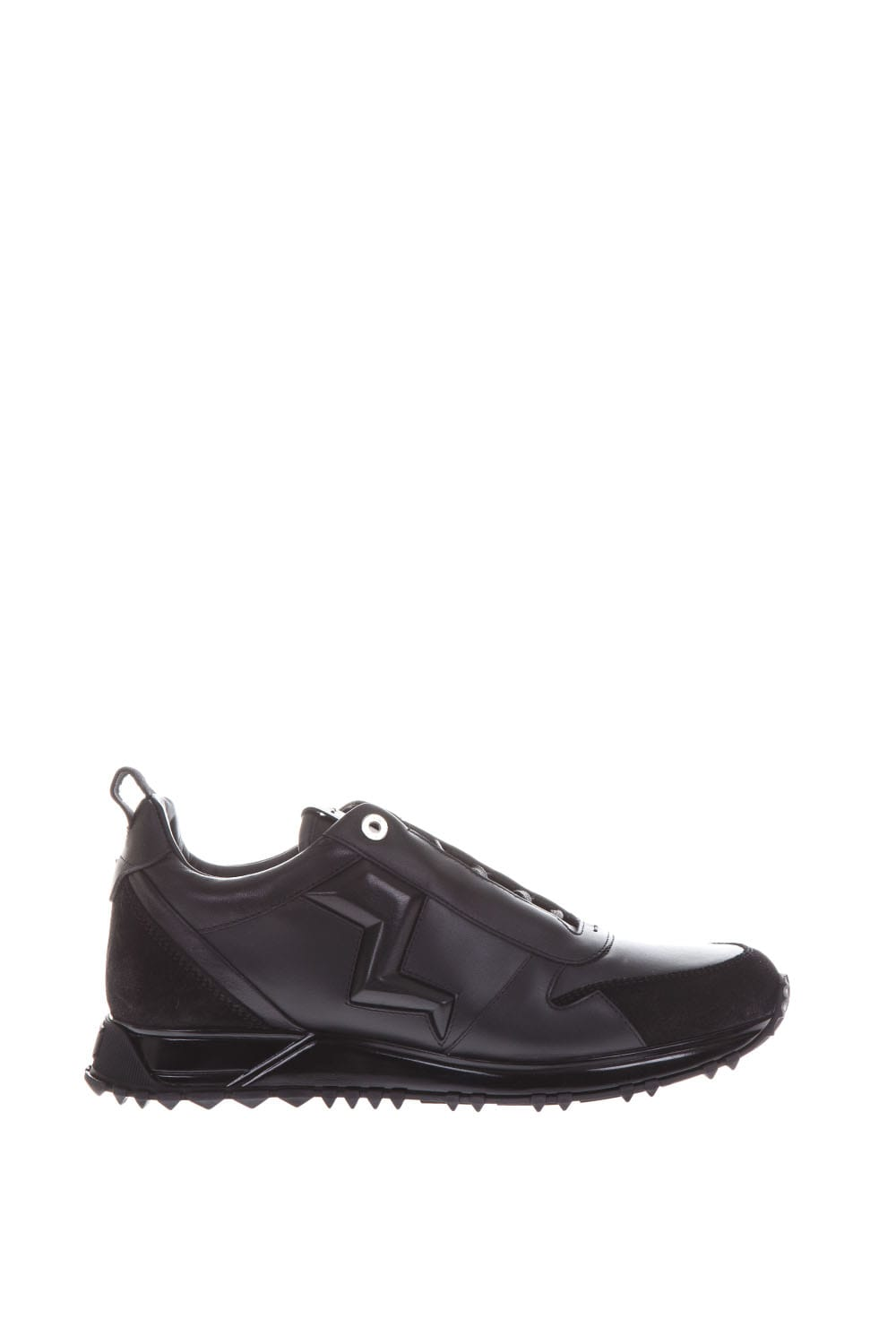 Fendi Thunder Leather Sneakers