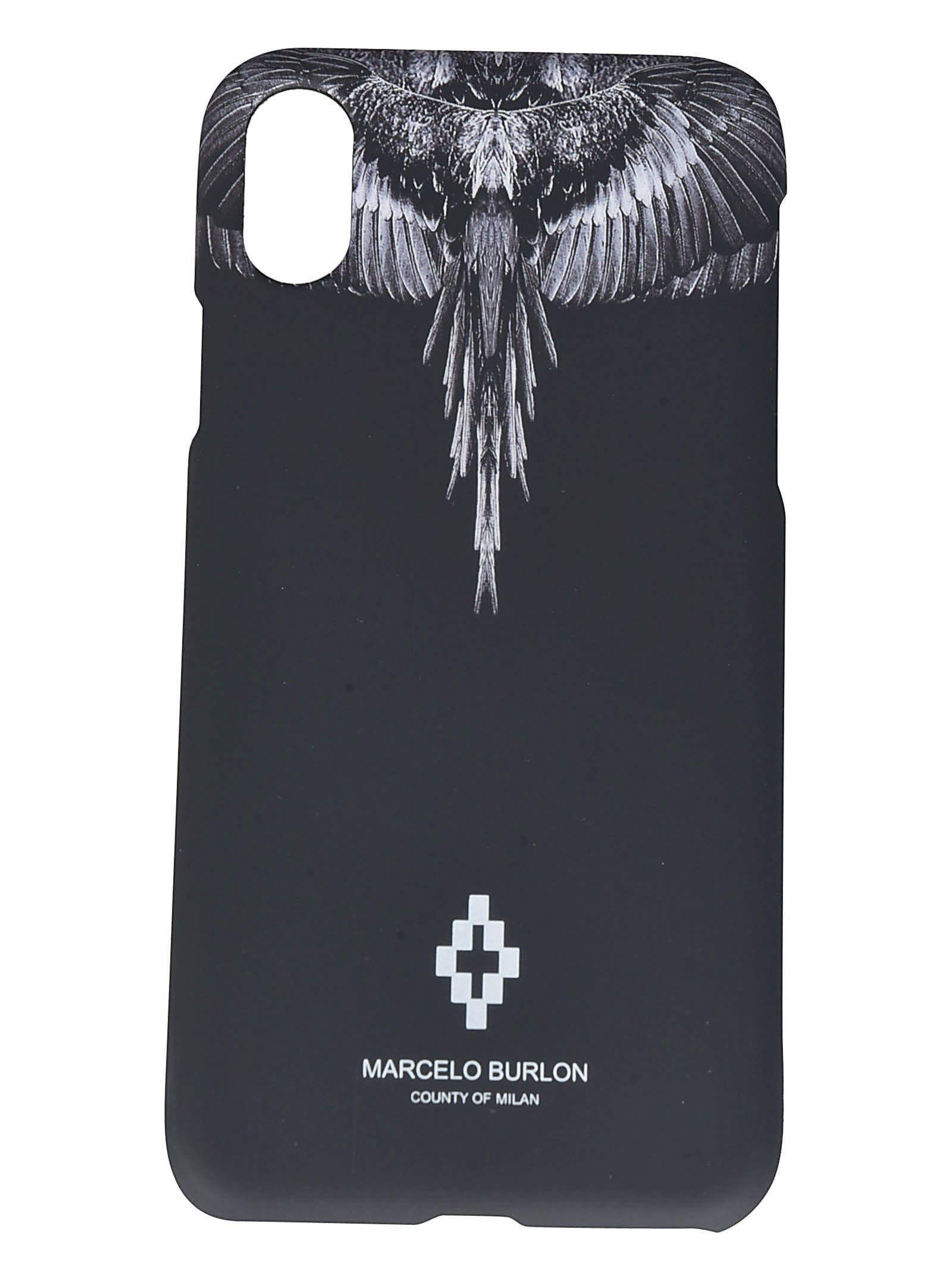 Marcelo Burlon County Of Milan BLACK WINGS IPHONE XS CASE