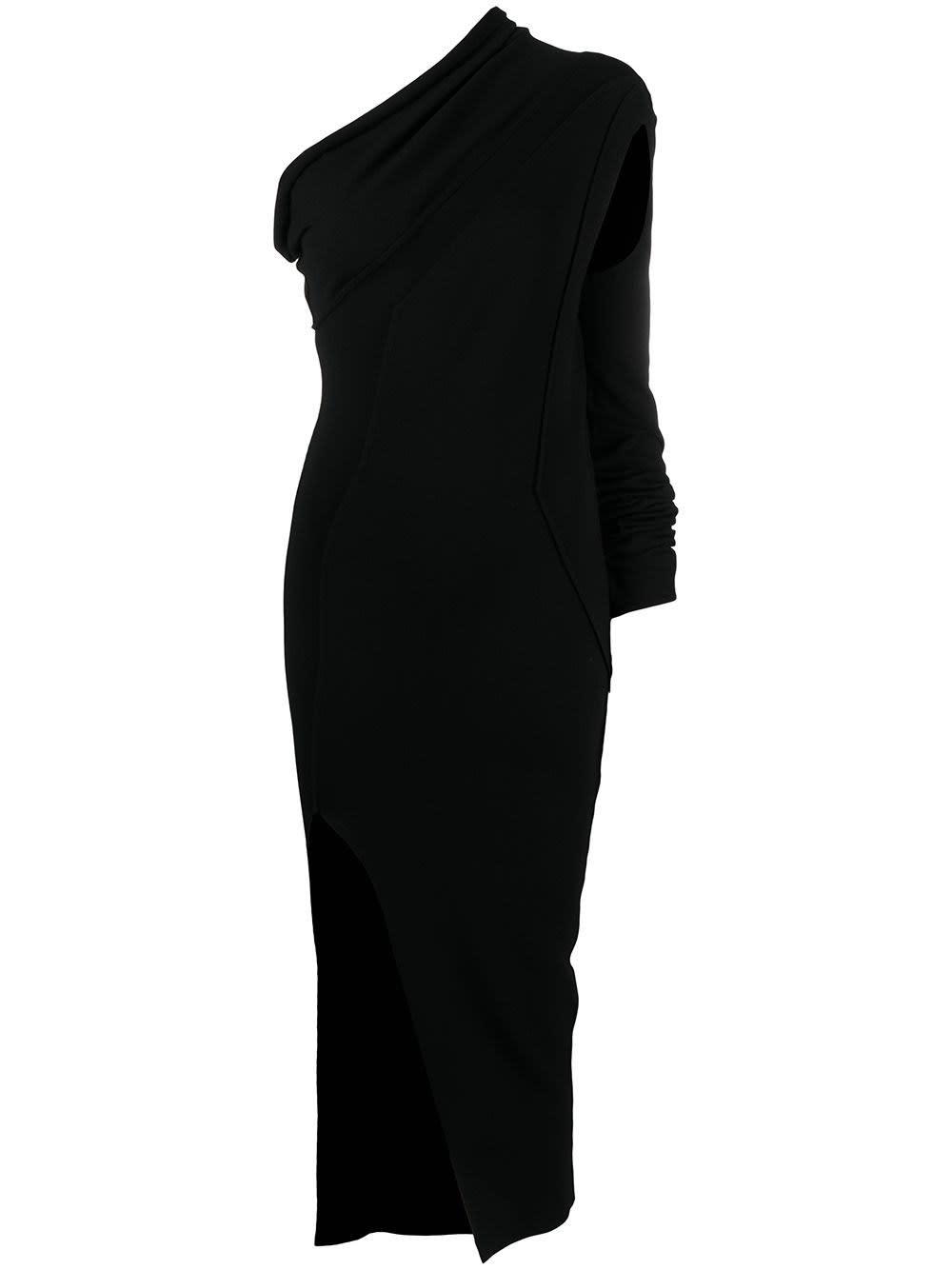 Rick Owens ATHENA LONG DRESS IN BLACK KNIT