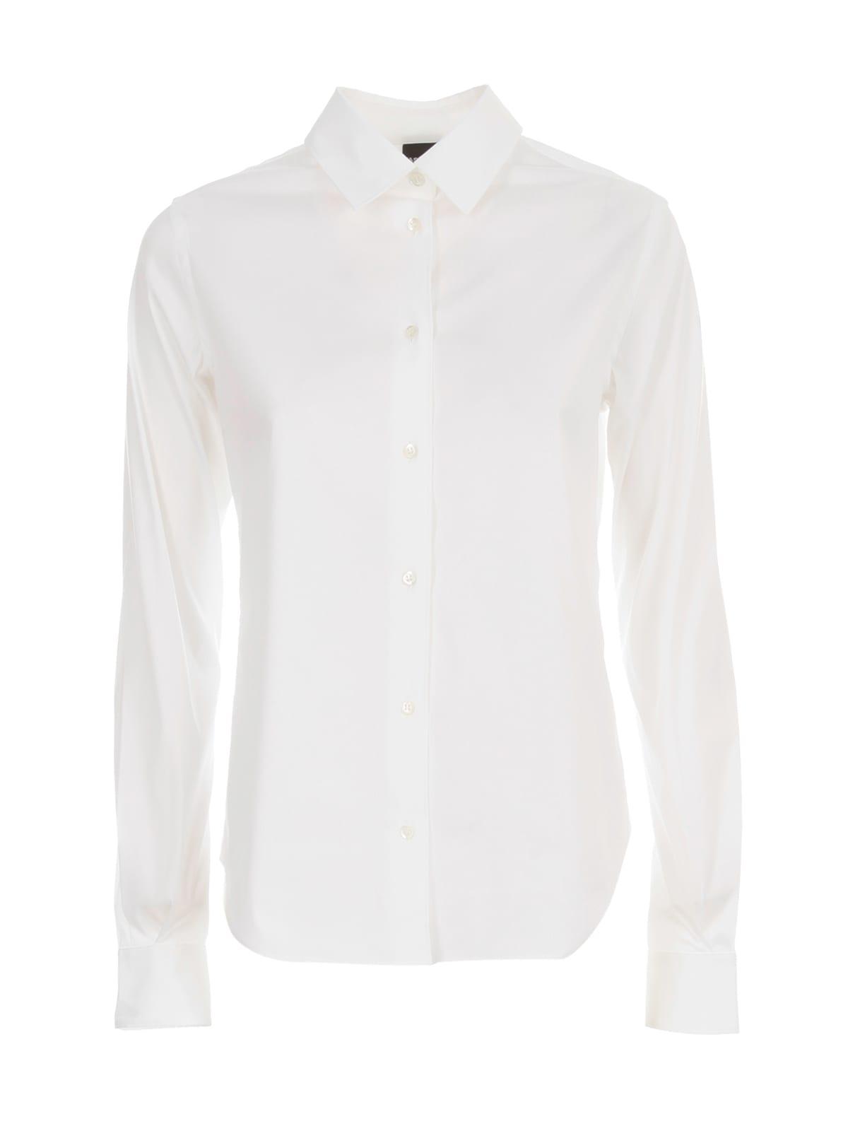 Aspesi Stretch L/s Shirt In White