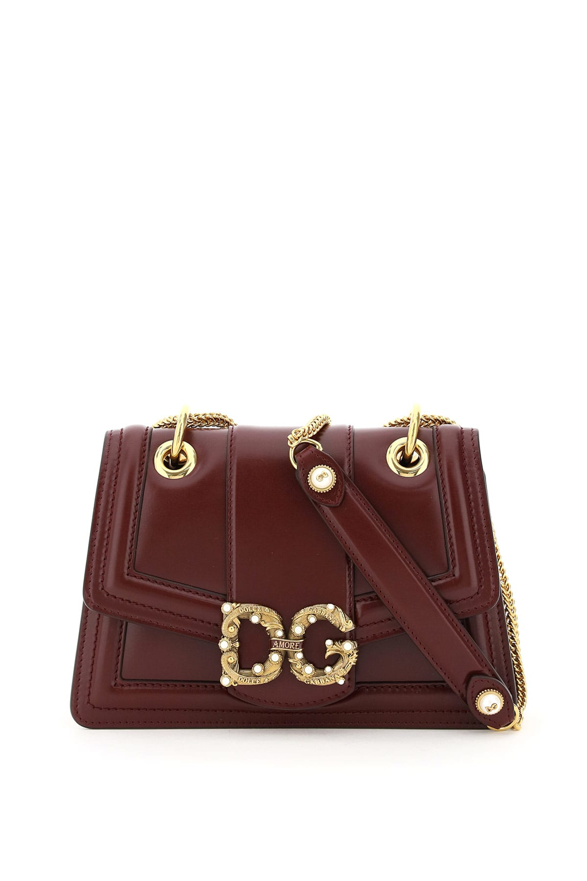 DOLCE & GABBANA Leathers SMALL DG AMORE BAG