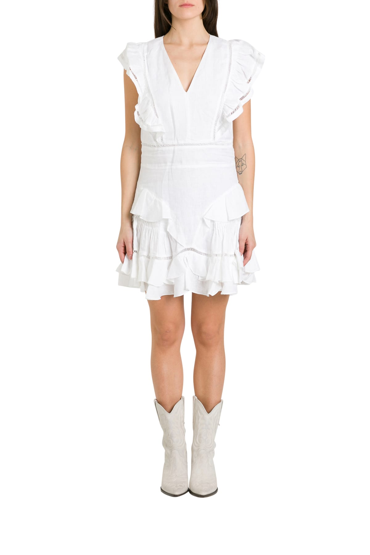 Buy Isabel Marant Étoile Audrey Flounced Dress online, shop Isabel Marant Étoile with free shipping