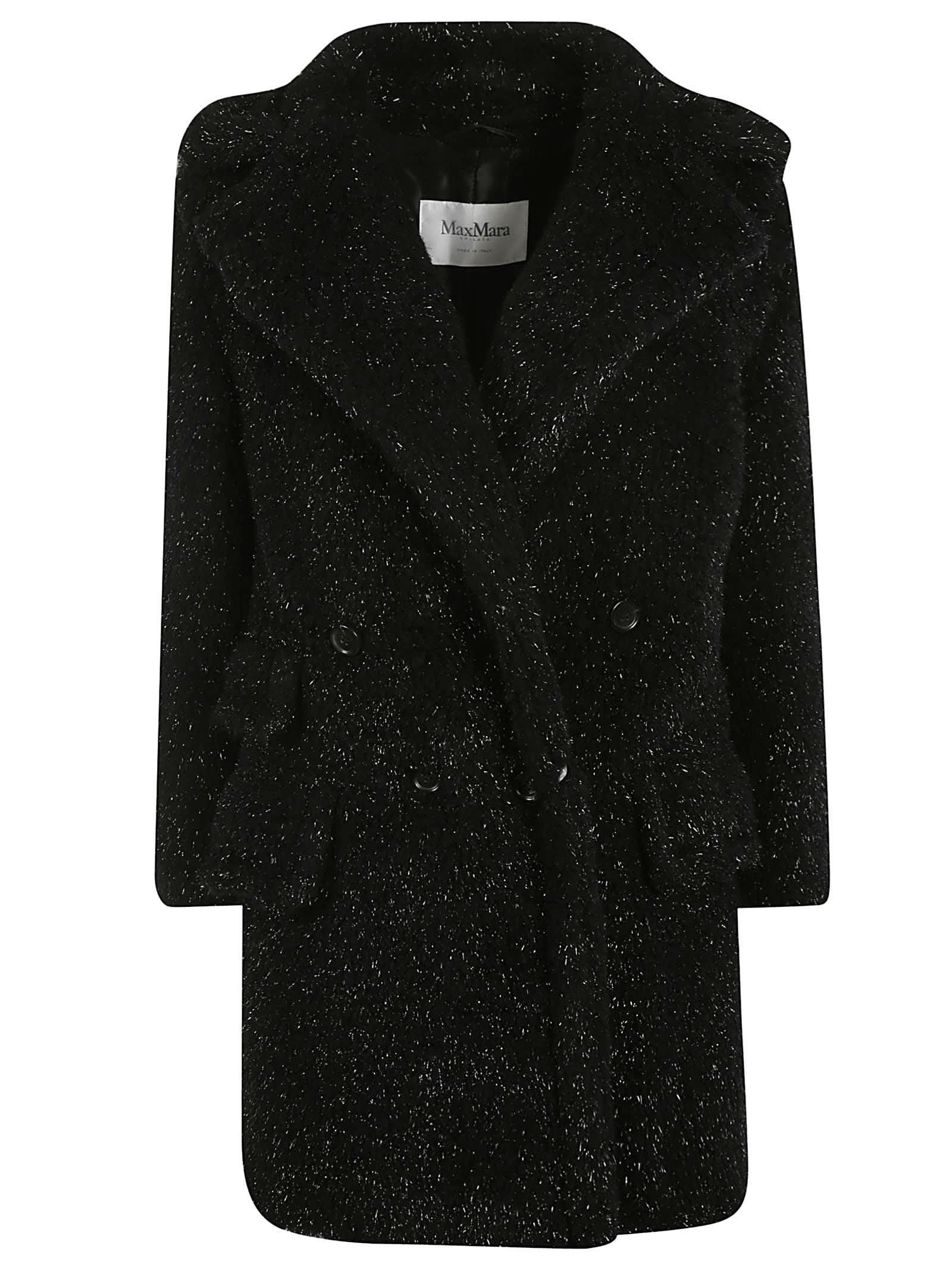 Max Mara Double Breasted Long Fur Coat