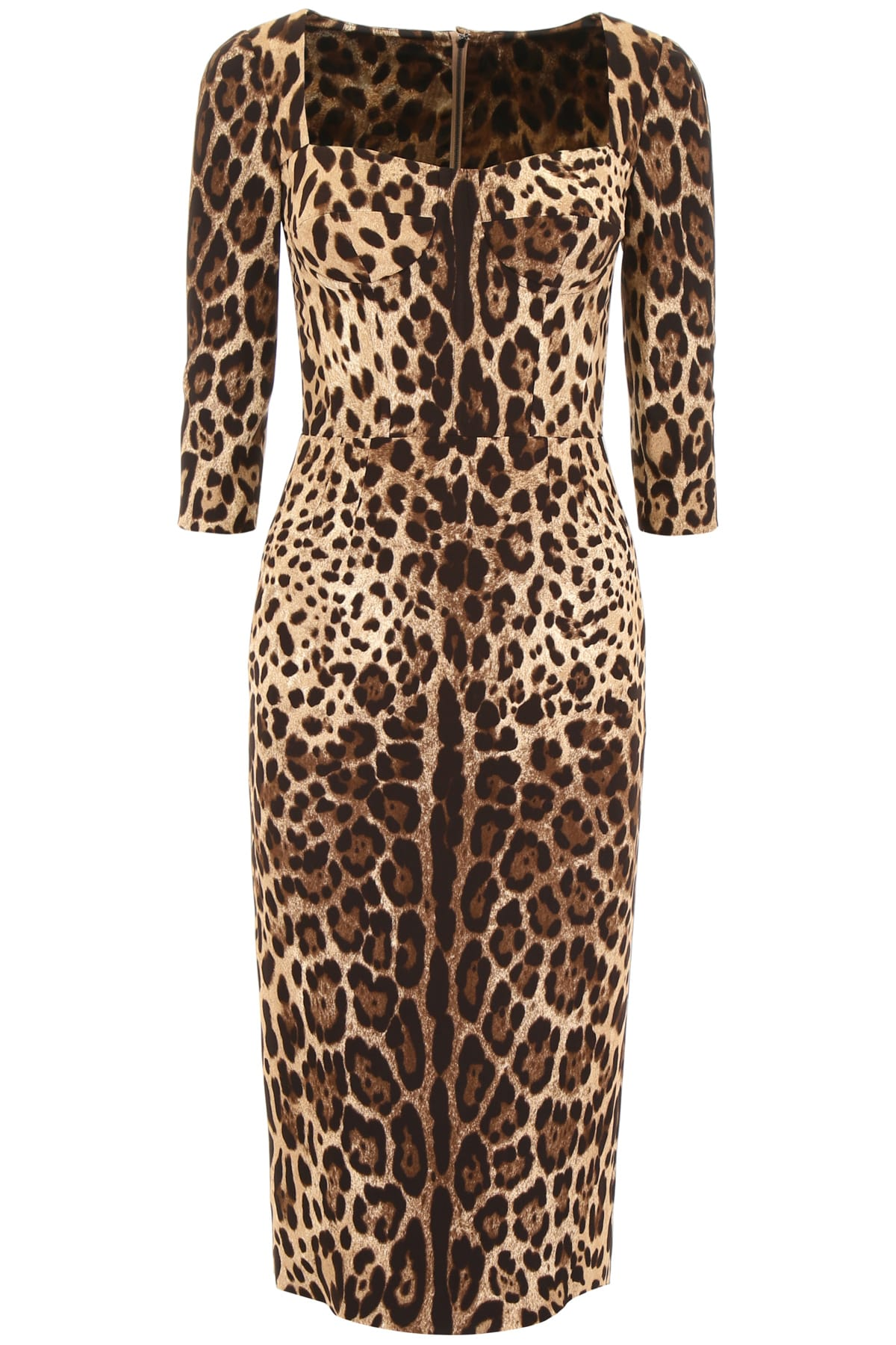 Buy Dolce & Gabbana Leopard-printed Dress online, shop Dolce & Gabbana with free shipping