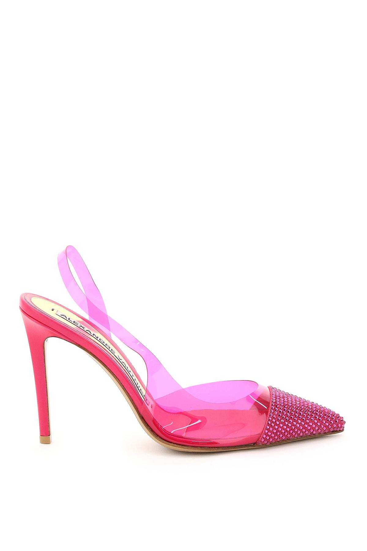 Alexandre Vauthier Shoes SLINGBACK PUMPS PVC STRASS AMBER 100