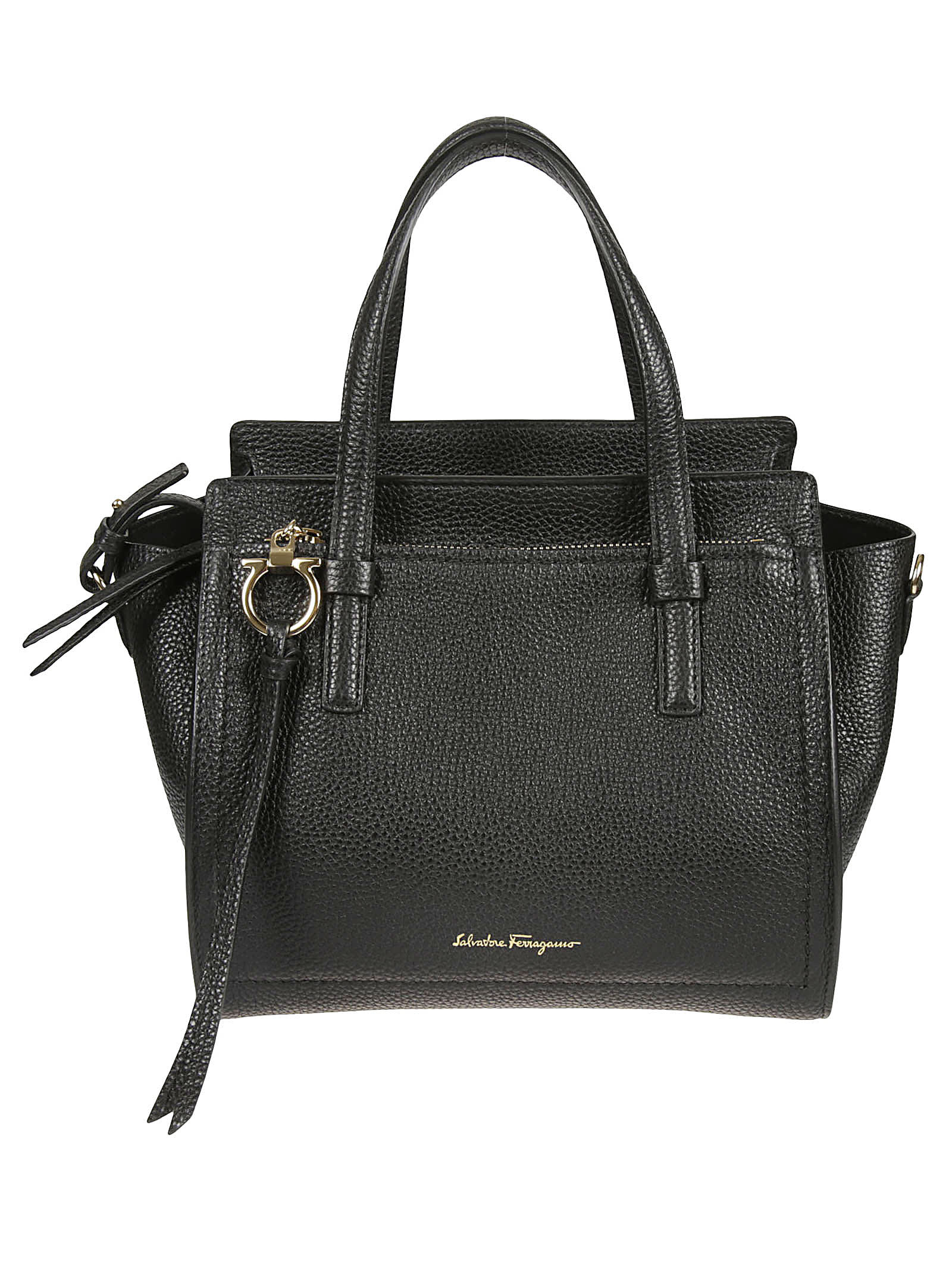 Salvatore Ferragamo Logo Plaque Front Zip Pocket Tote