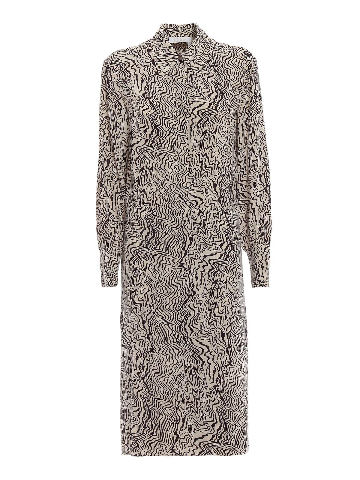Chloé Abstract Print Dress