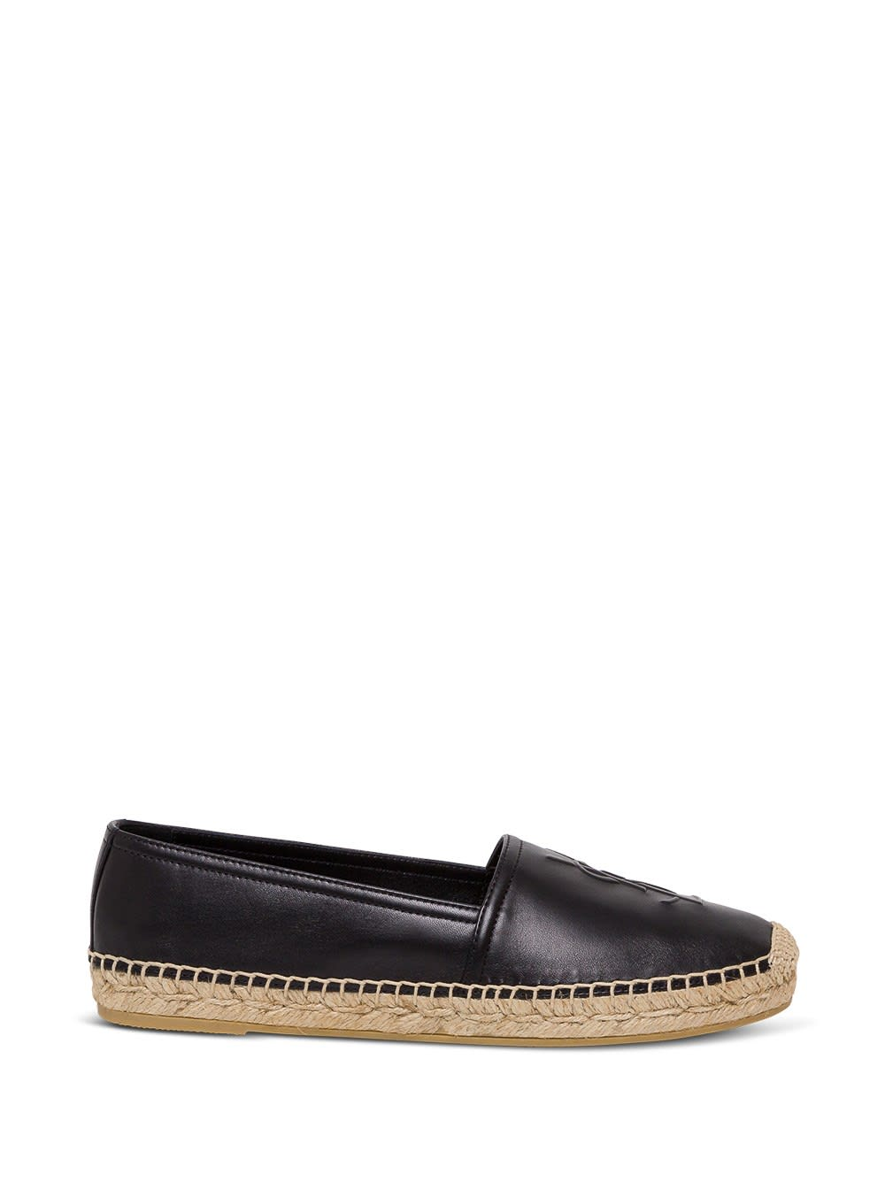 Saint Laurent FLAT HEEL LEATHER UP ESPADRILLAS