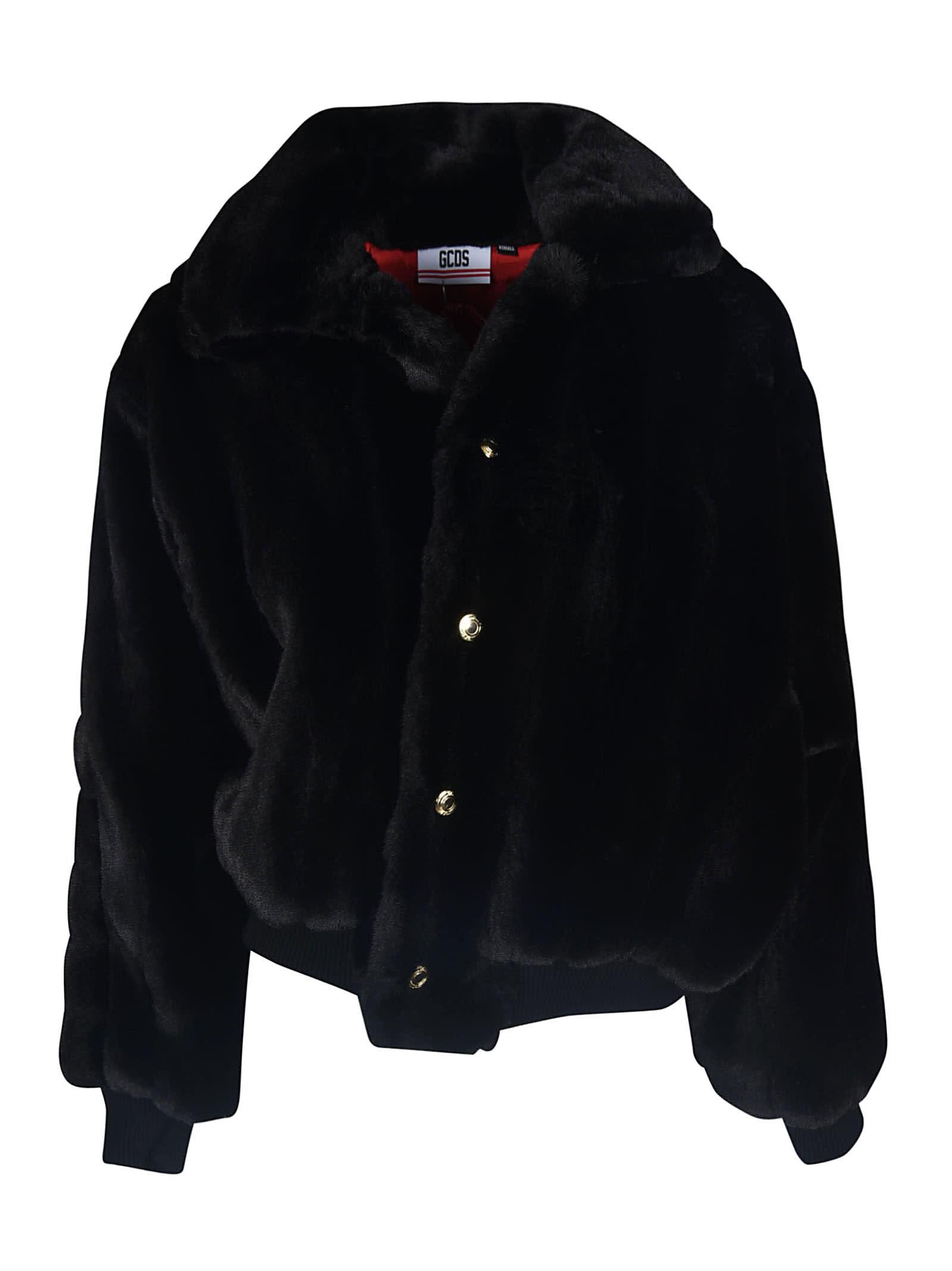 GCDS Fur Buttoned Jacket