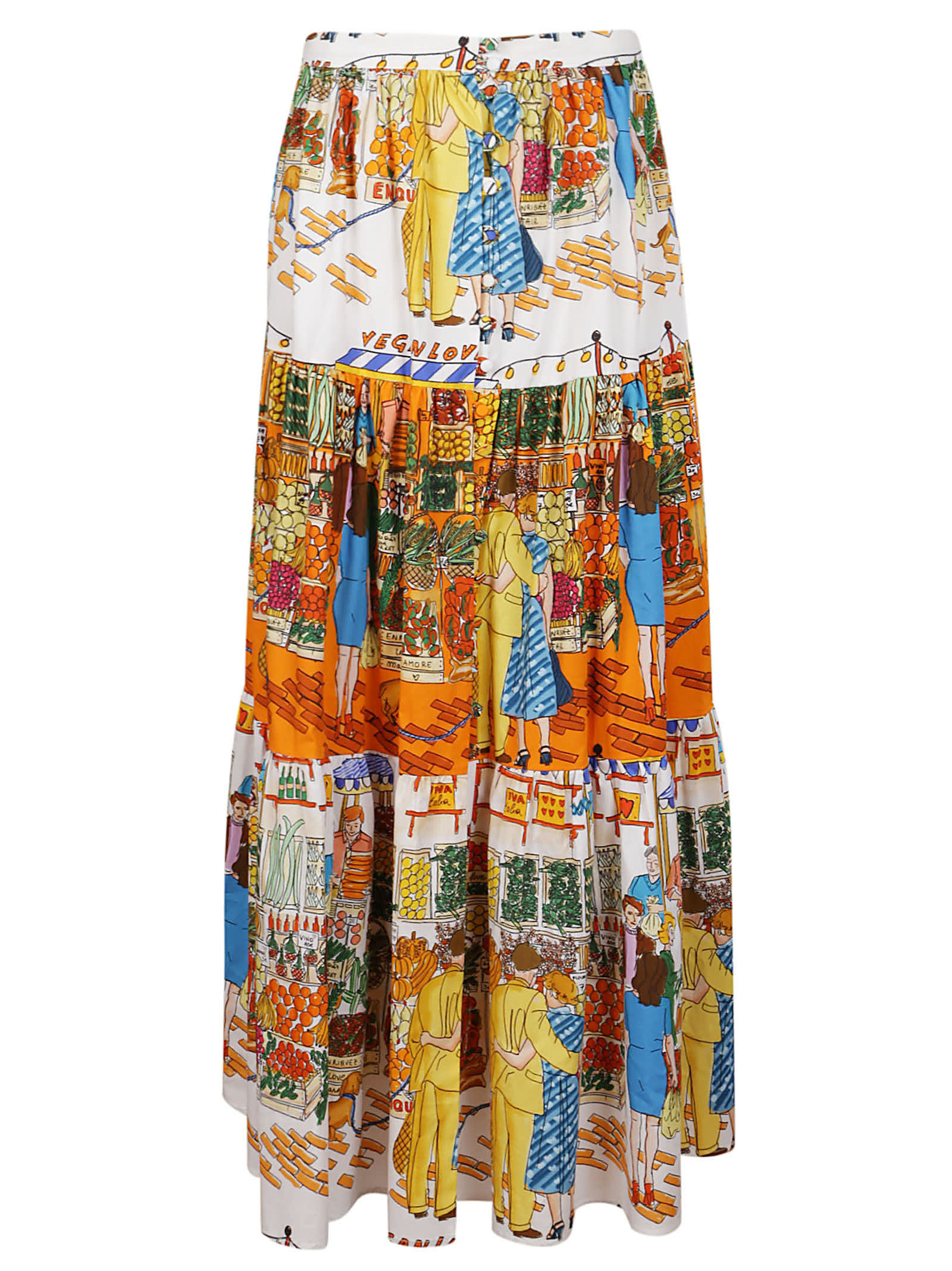 Alessandro Enriquez MULTICOLOR COTTON SKIRT