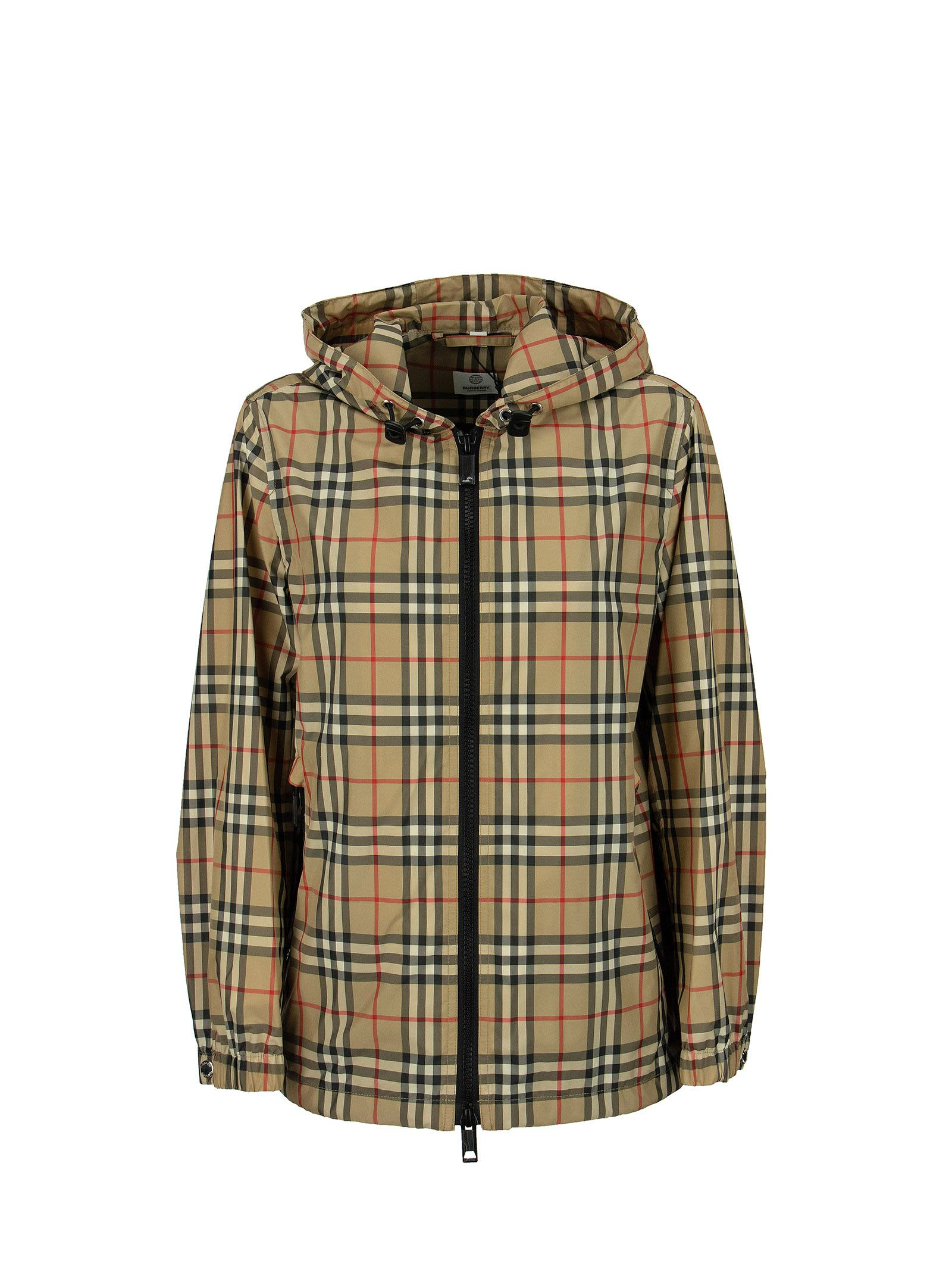 Burberry VINTAGE CHECK RECYCLED POLYESTER HOODED JACKET EVERTON
