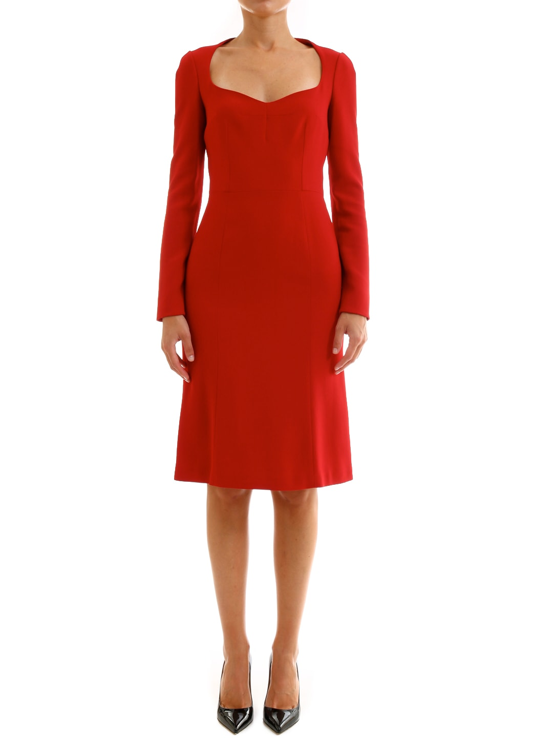 Dolce & Gabbana Dress In Cady Red
