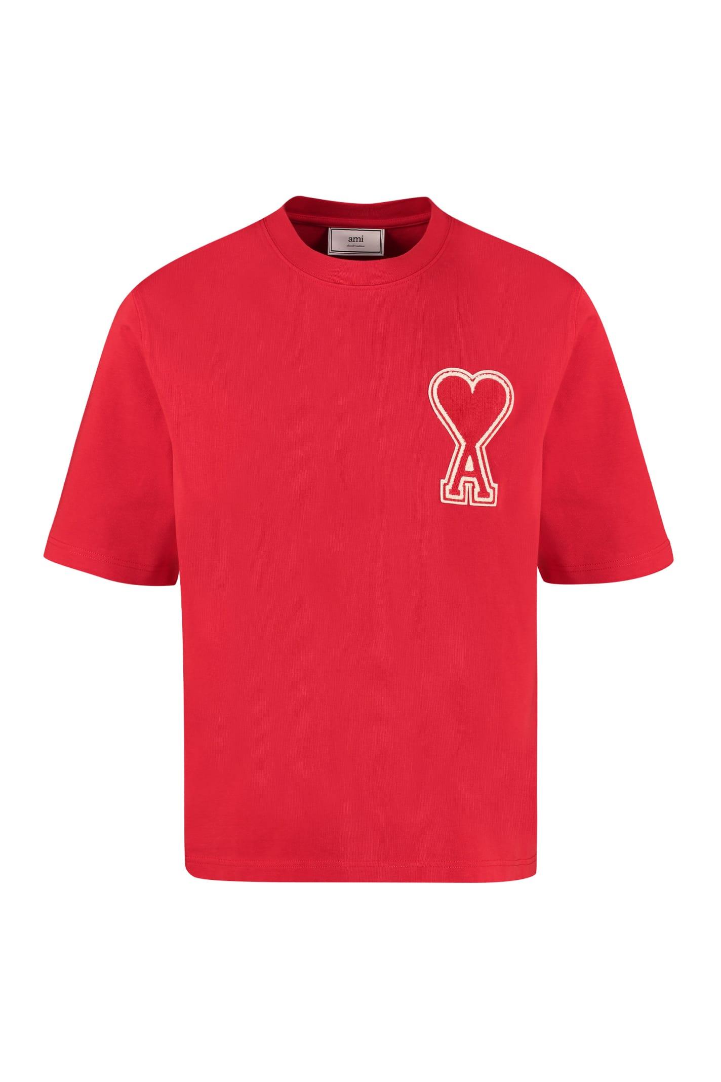 Ami Alexandre Mattiussi Cotton Crew-neck T-shirt