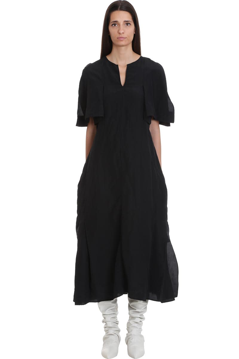 Jil Sander Liza Dress In Black Viscose