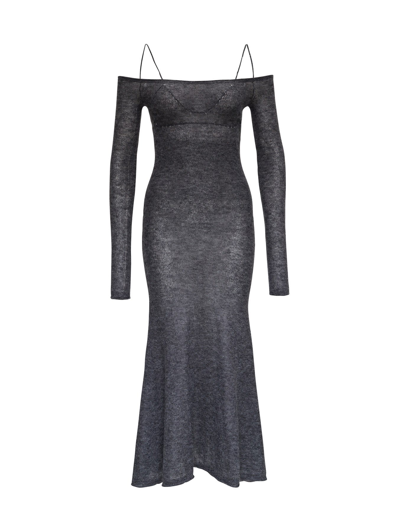 Jacquemus LA ROBE MAILLE KNITTED DRESS IN WOOL AND MOHAIR BLEND