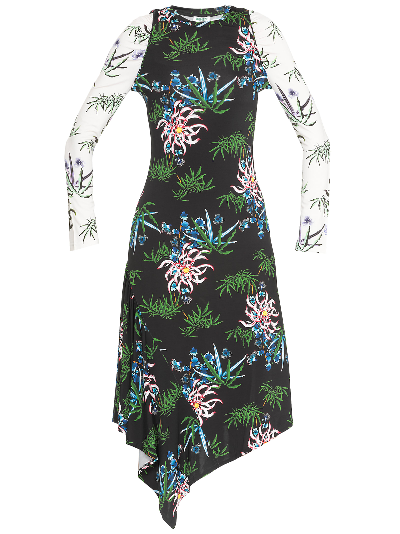 Buy Kenzo Floral Dress online, shop Kenzo with free shipping
