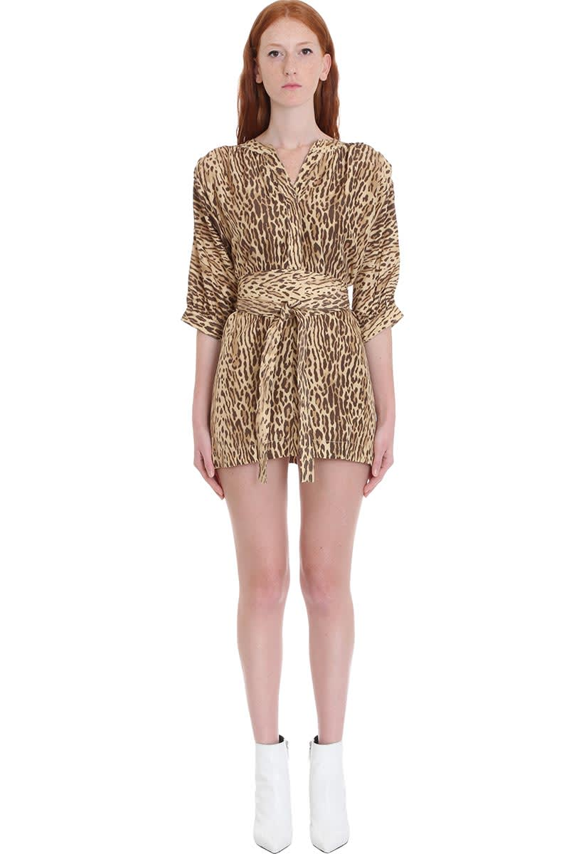Zimmermann Dress In Animalier Silk