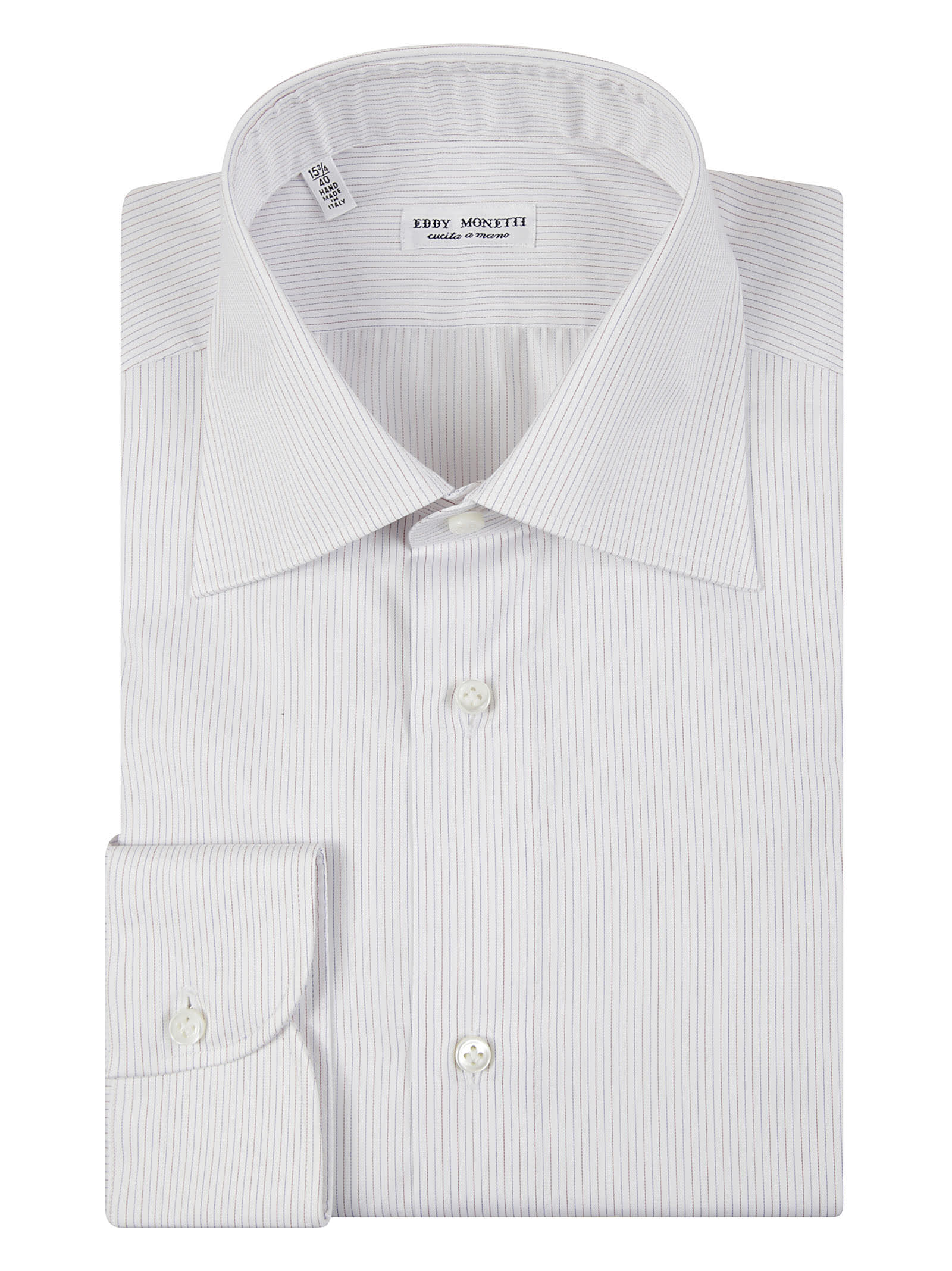 Two-Tone Classic Collar Stripe Shirt