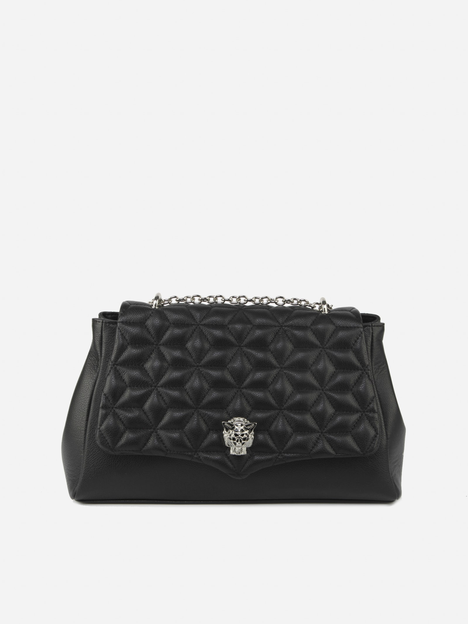 Black Kendal Bag In Quilted-effect Leather