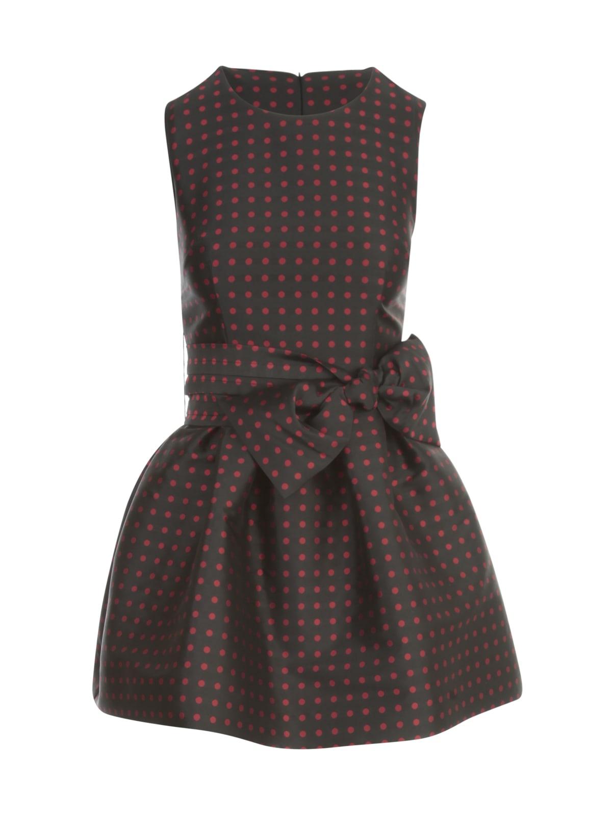 Buy Parosh Pois Fantasy Short Crew Neck Sleeveless Dress online, shop Parosh with free shipping