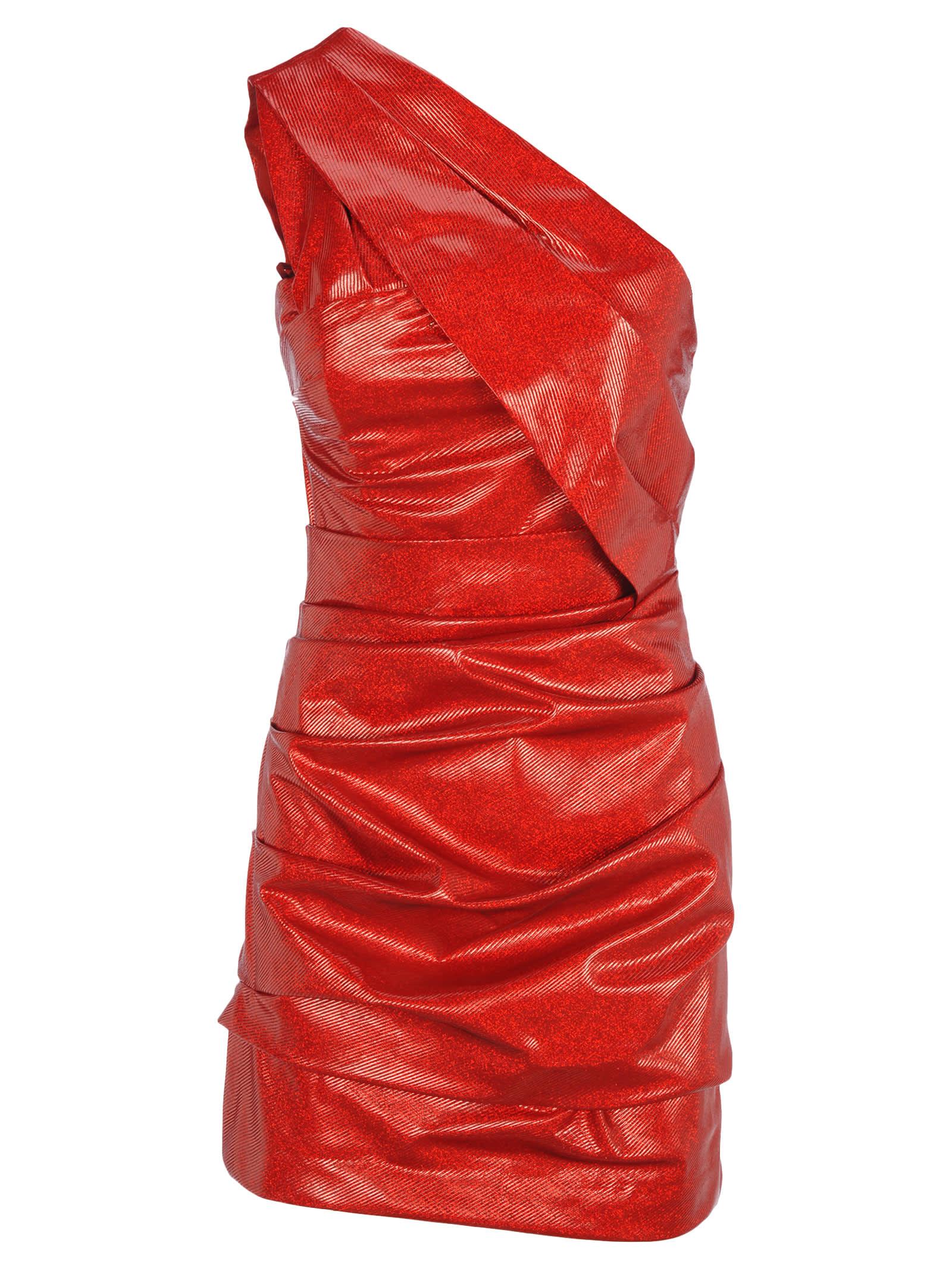 D Squared Ruched Mini Dress