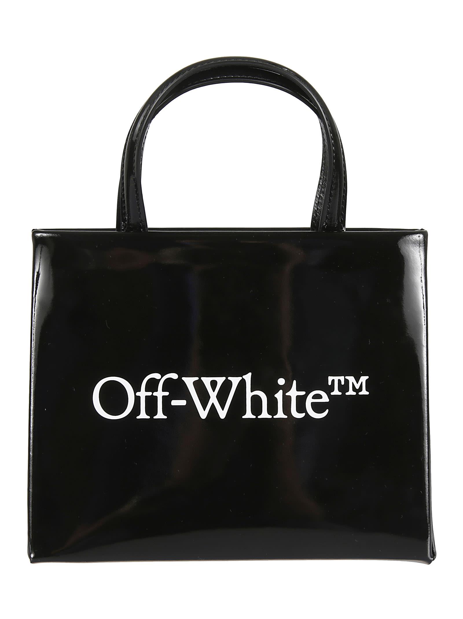 OFF-WHITE LEATHER MINI BOX TOTE