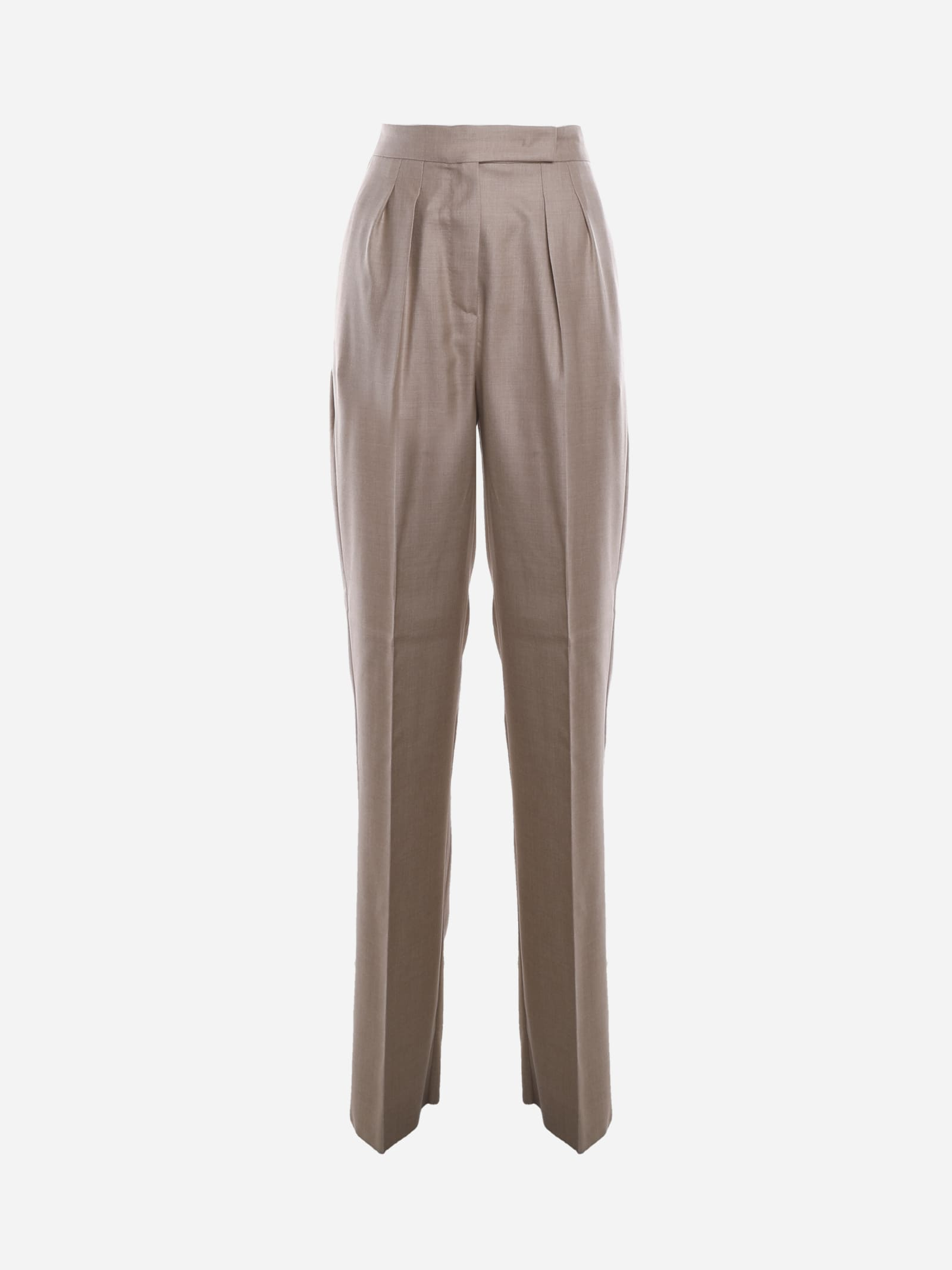 Max Mara Pants JOSEF HIGH-WAISTED TROUSERS IN SILK BLEND SS 2021