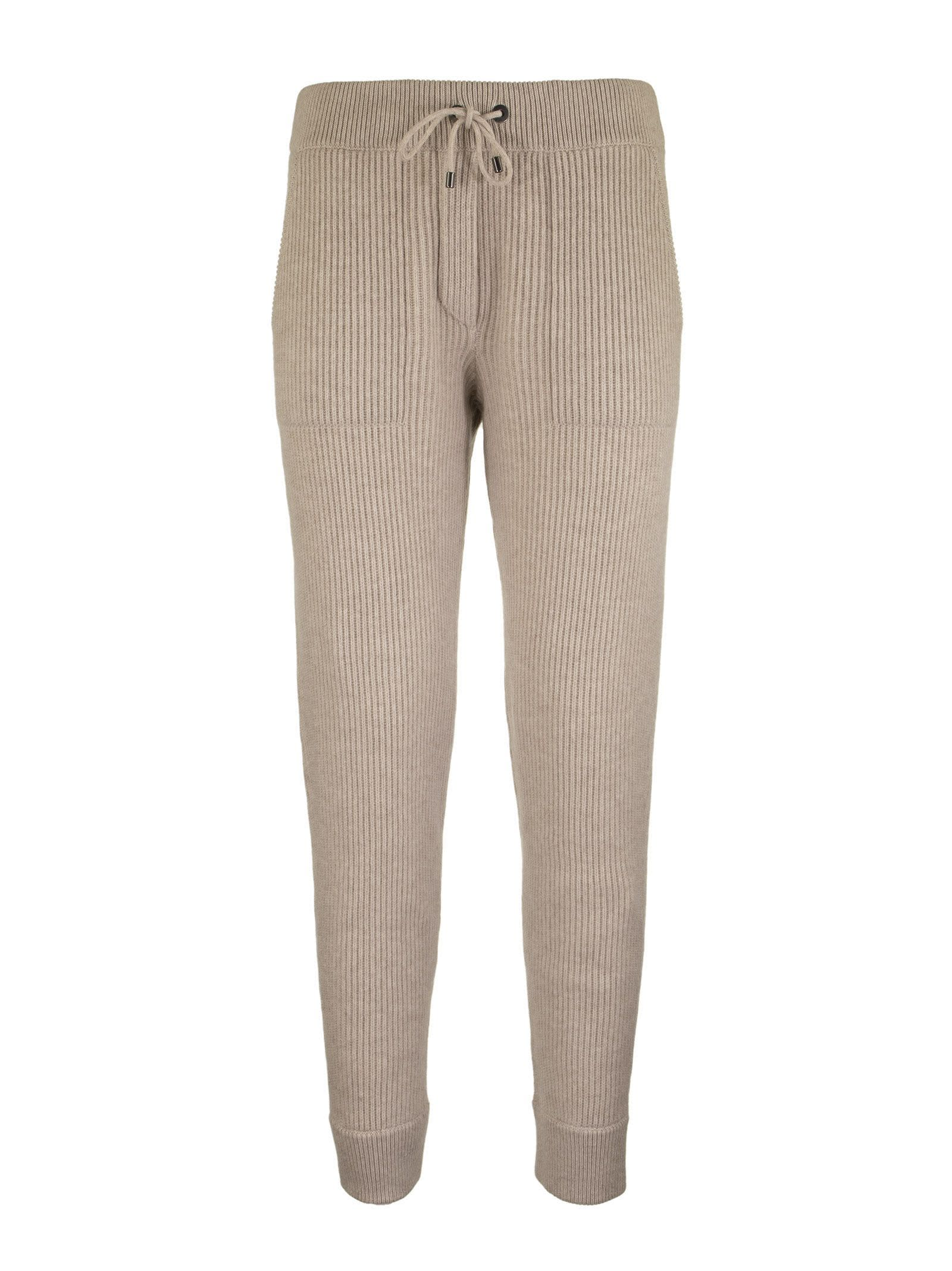 Brunello Cucinelli RIBBED CASHMERE SWEATPANTS