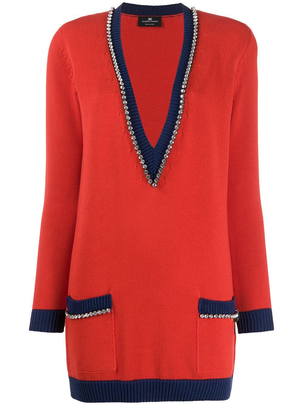 Buy Elisabetta Franchi Celyn B. Knitted Dress online, shop Elisabetta Franchi Celyn B. with free shipping