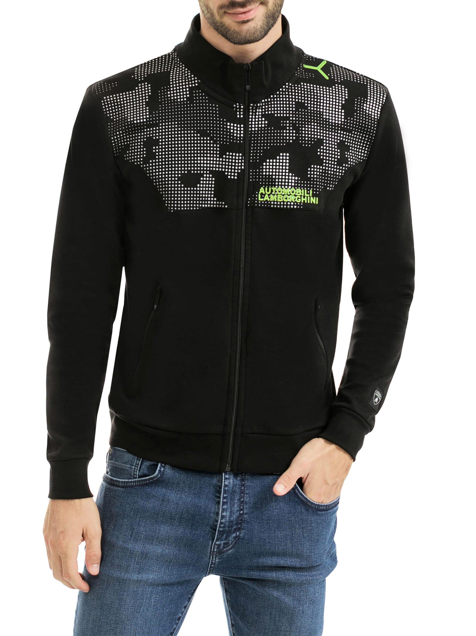 Camouflage Details Zip-up Sweatshirt