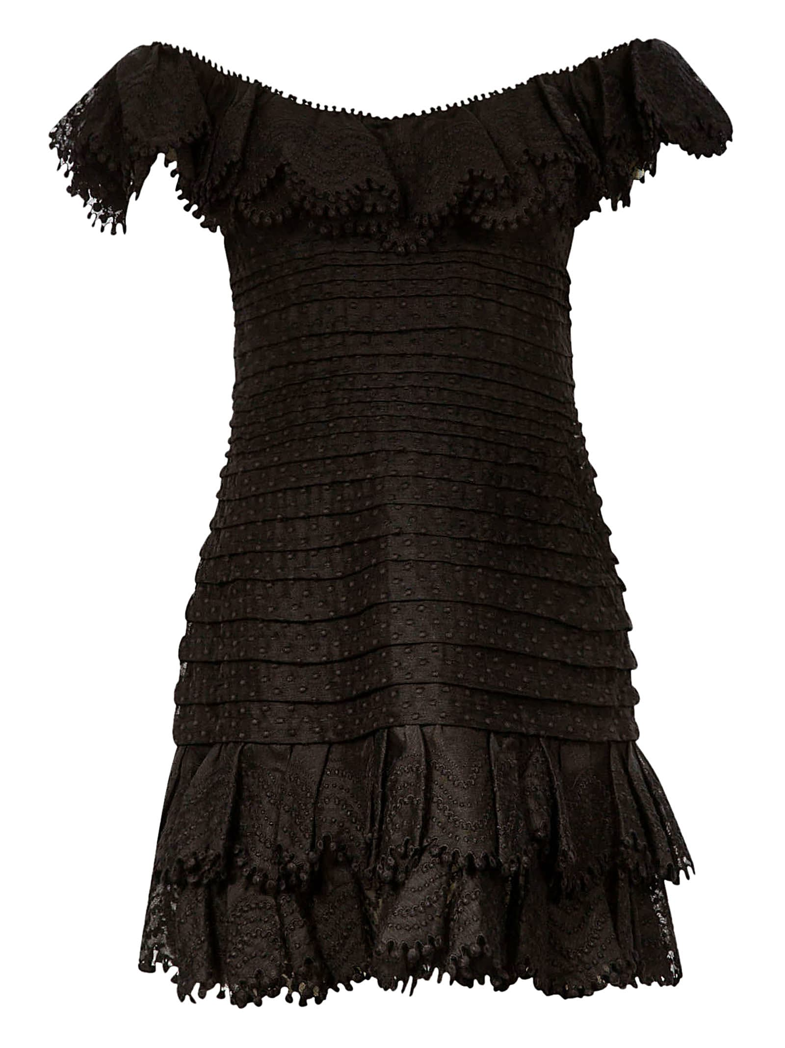 Buy Zimmermann Eight Off Shoulder Mini Dress online, shop Zimmermann with free shipping