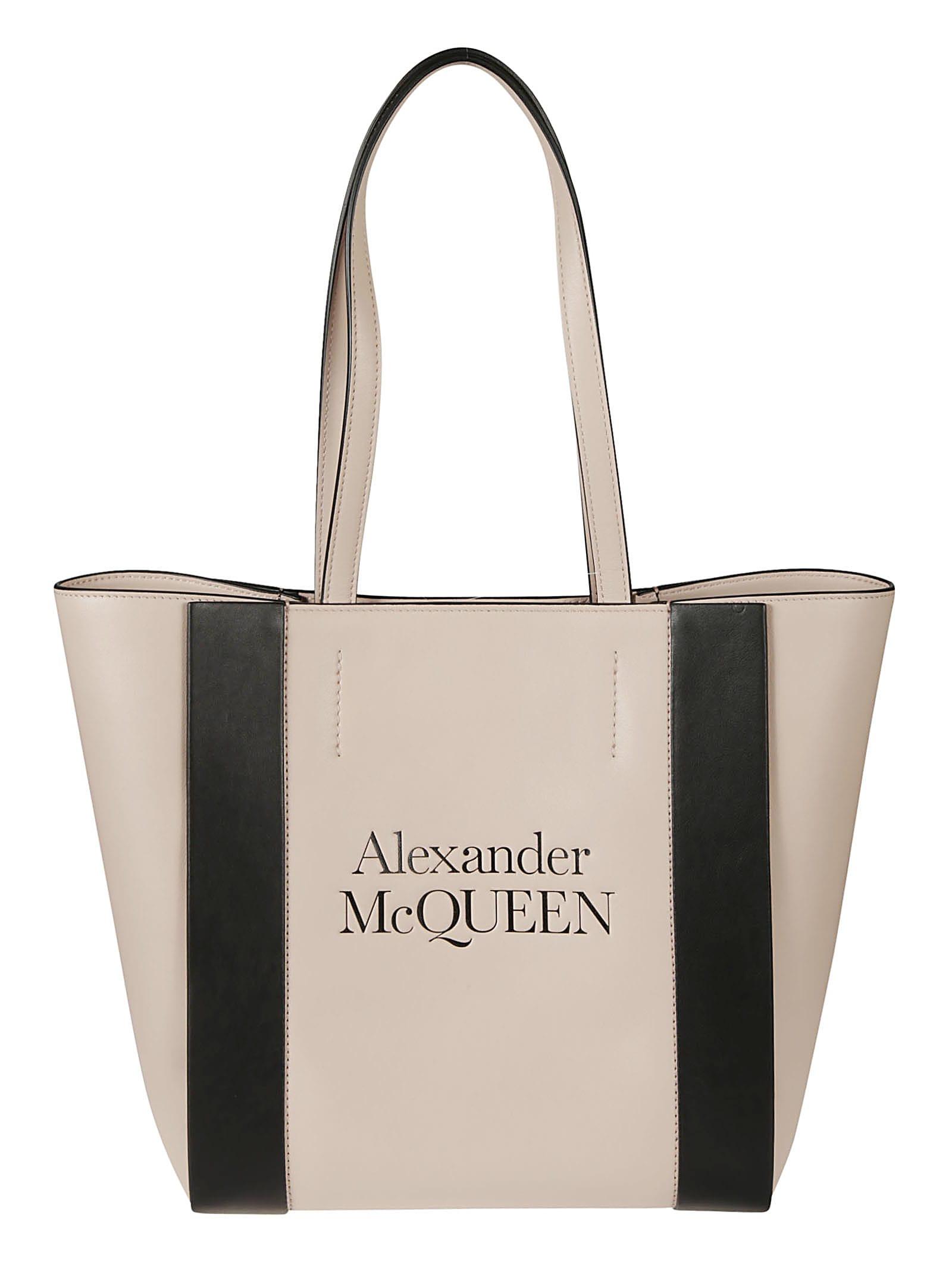 Alexander McQueen Logo Stamp Shopper Bag