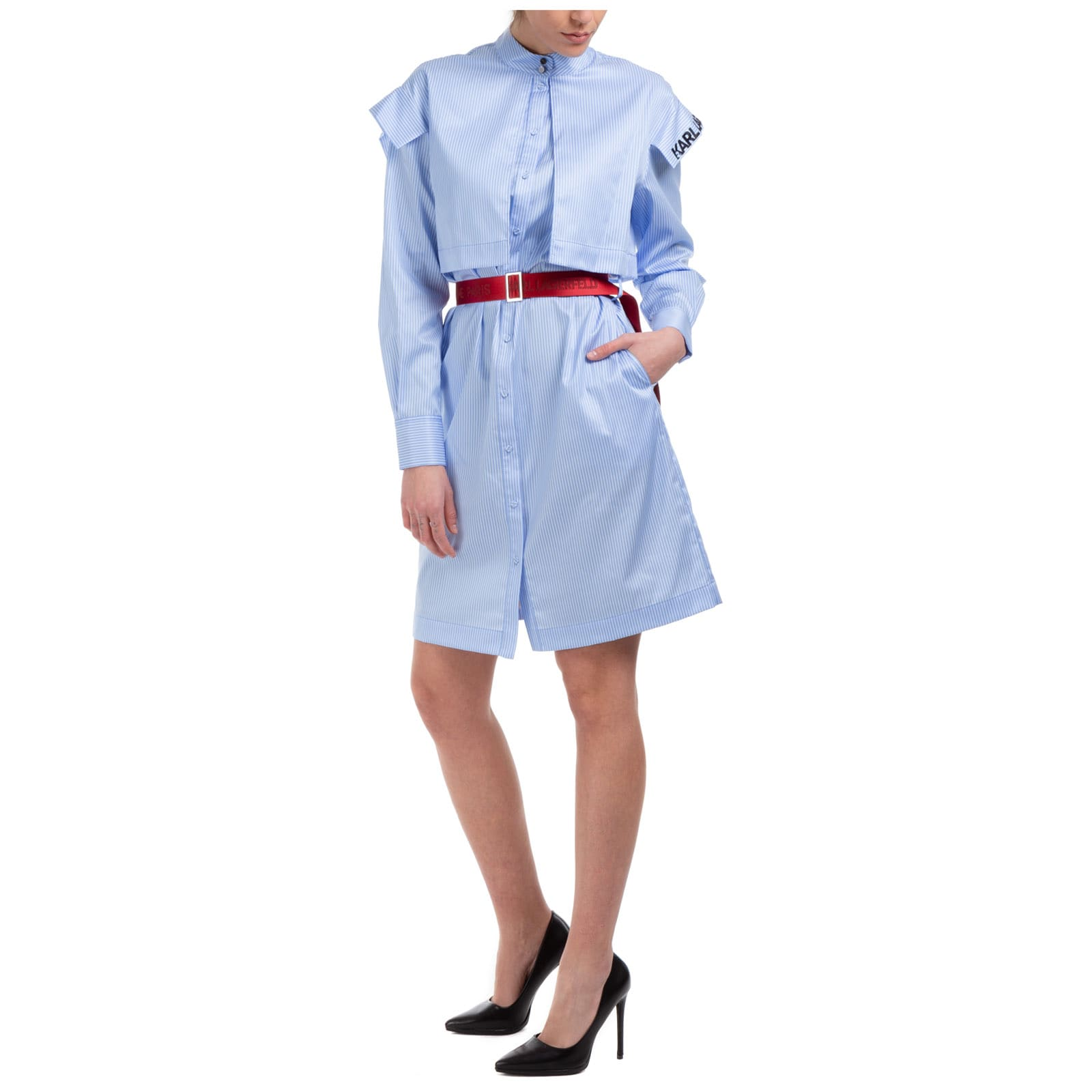 Buy Karl Lagerfeld Rue St Guillaume Knee Length Dresses online, shop Karl Lagerfeld with free shipping