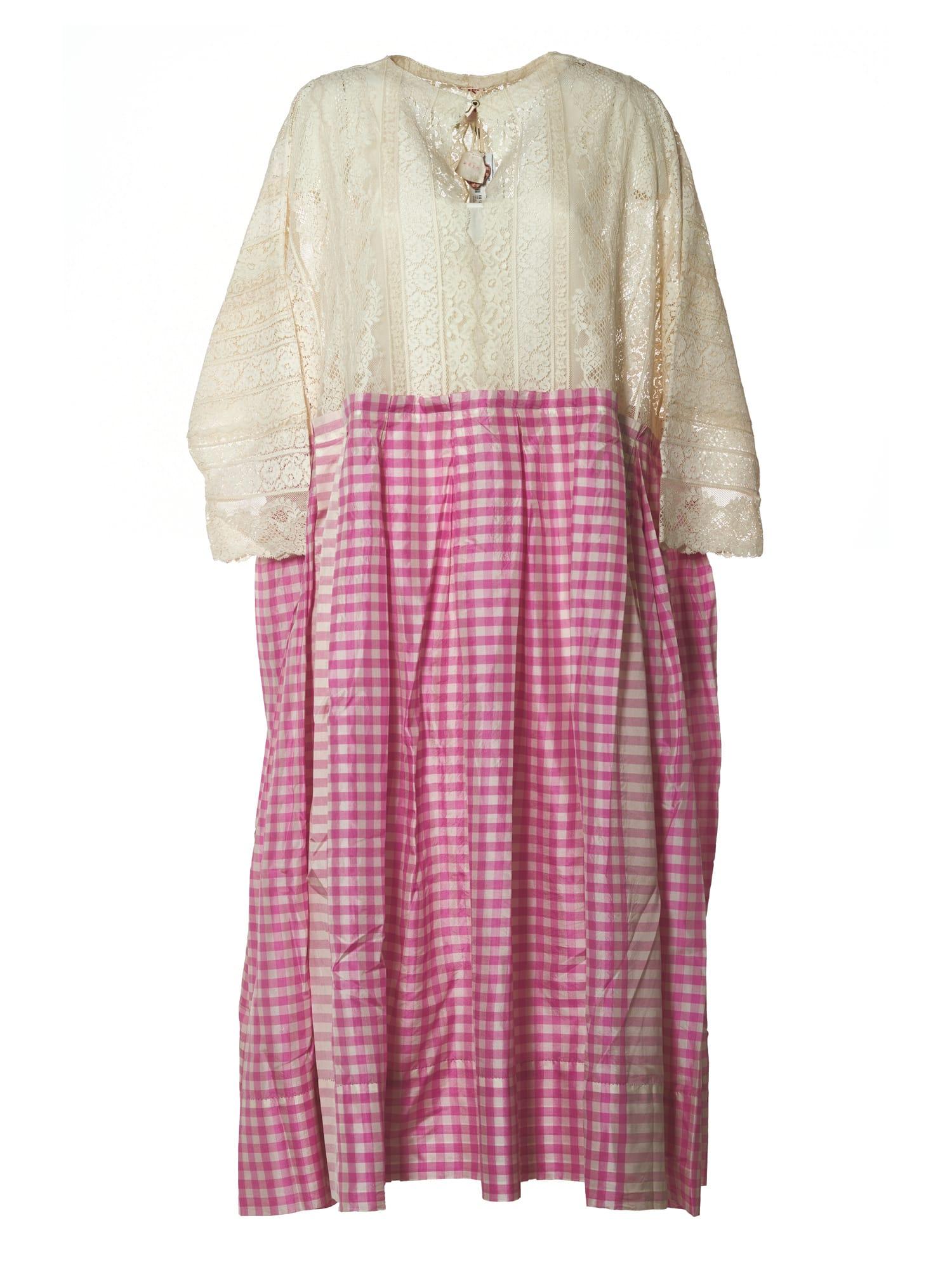Buy P?o Dress Quadri Pizzo online, shop P?o with free shipping