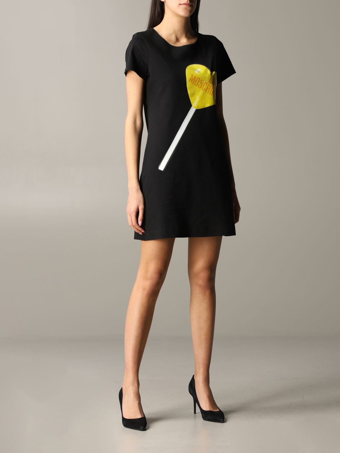 Buy Love Moschino Dress Love Moschino Dress With Lollipop Print online, shop Love Moschino with free shipping