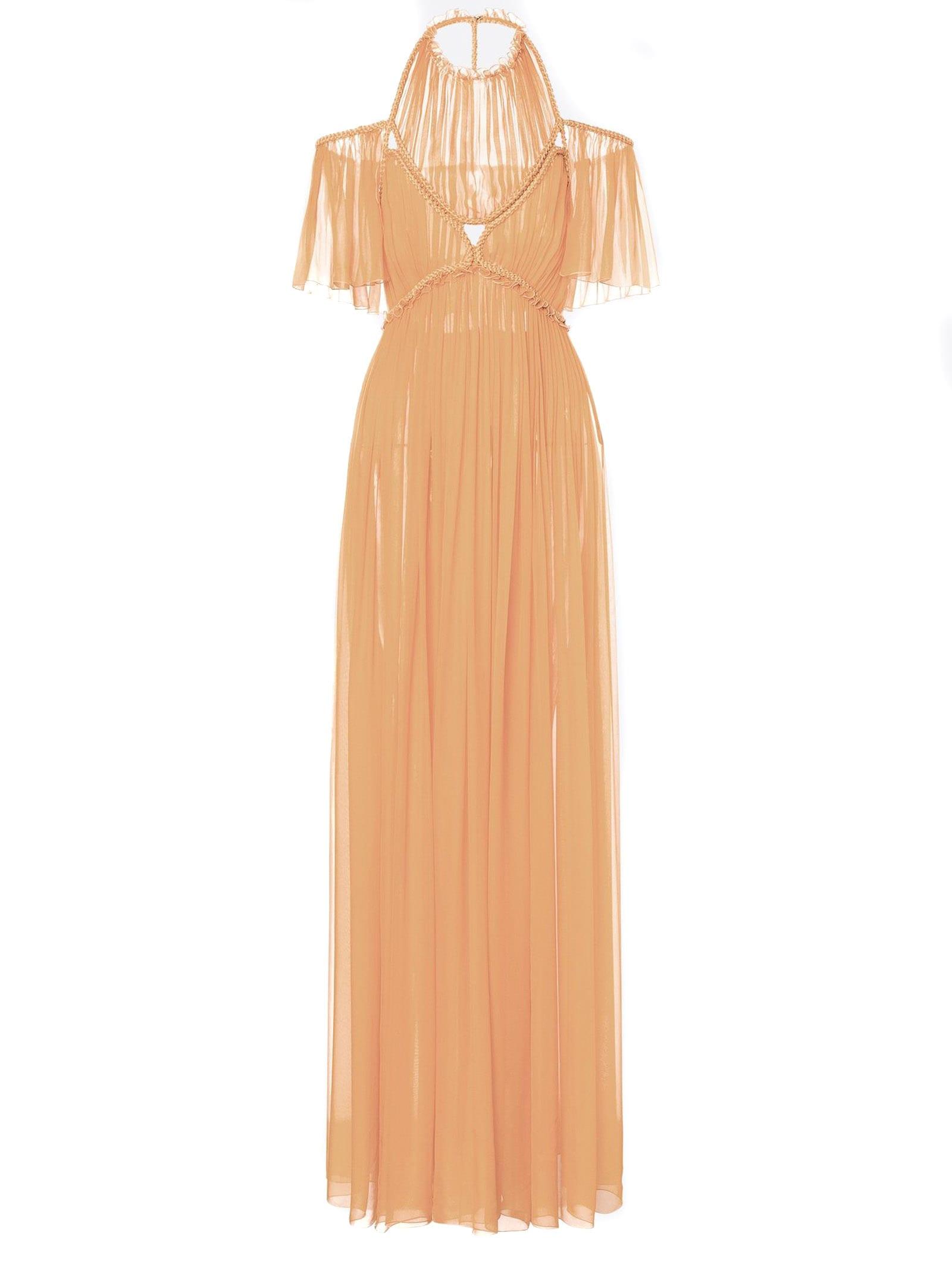 Alberta Ferretti Long Dress In Silk Chiffon