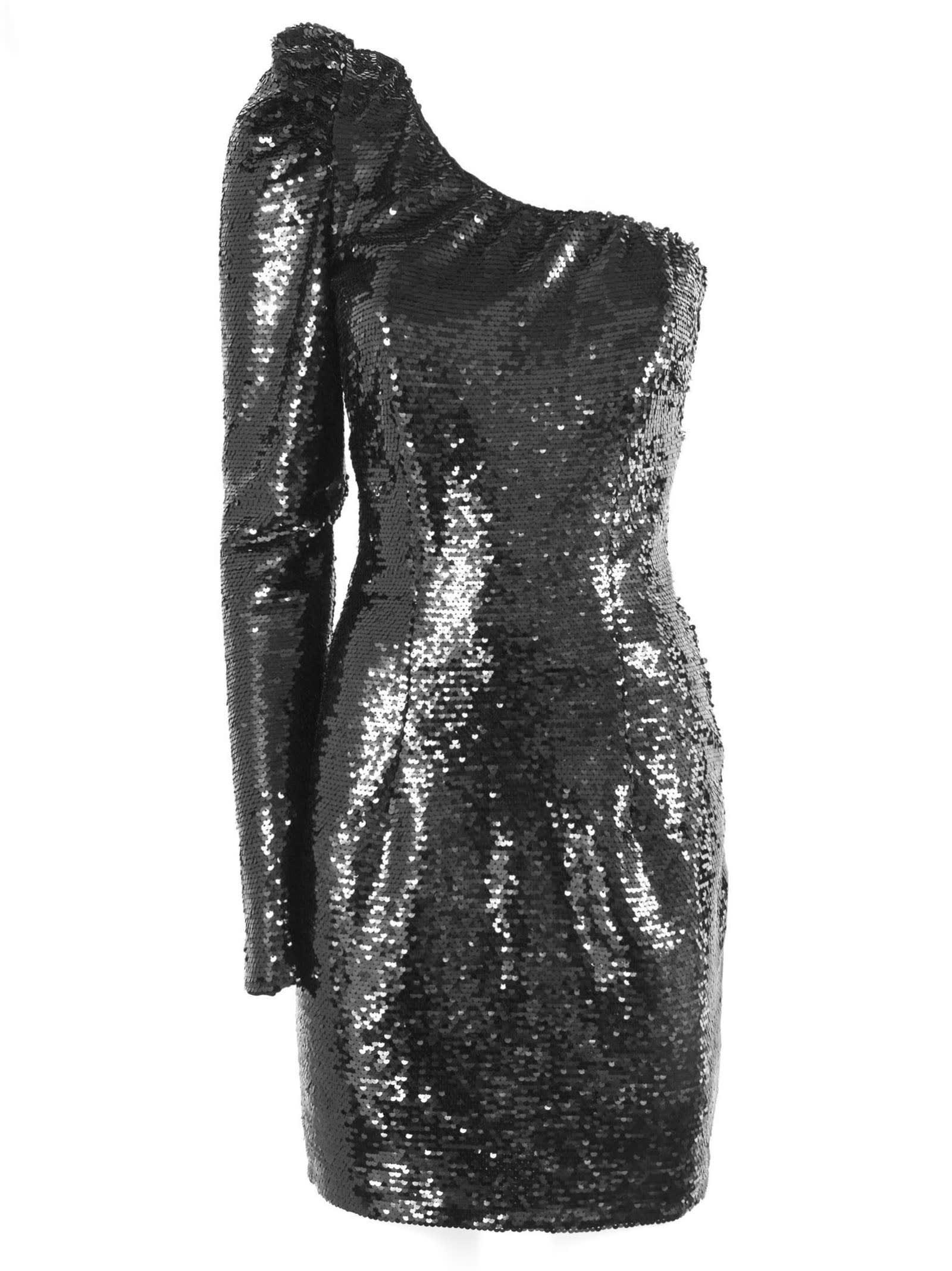 Amen One-shoulder Dress Black Sequins