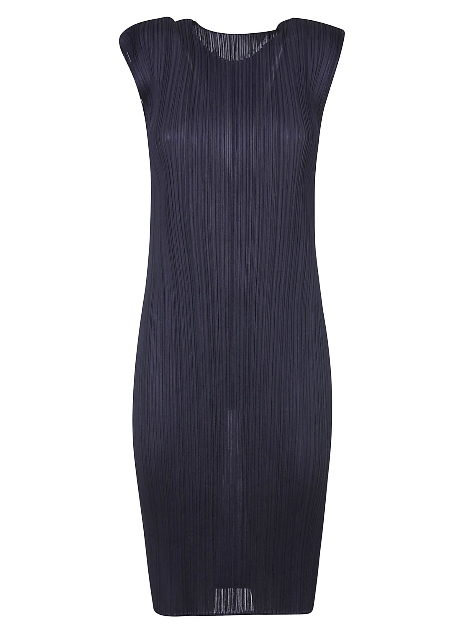 Pleats Please Issey Miyake Fitted Sleeveless Pleated Dress